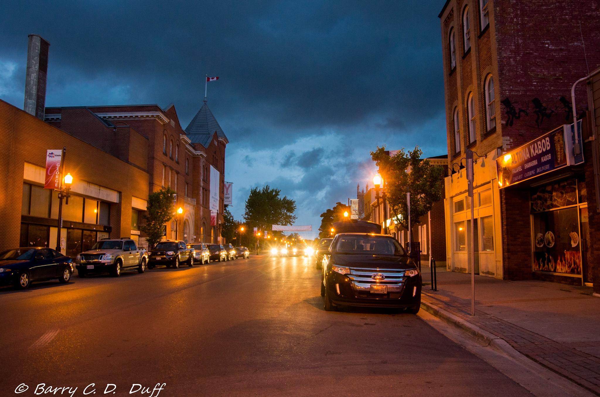 Photo in Random #night #street at night #geoge st peterbourogh on canad