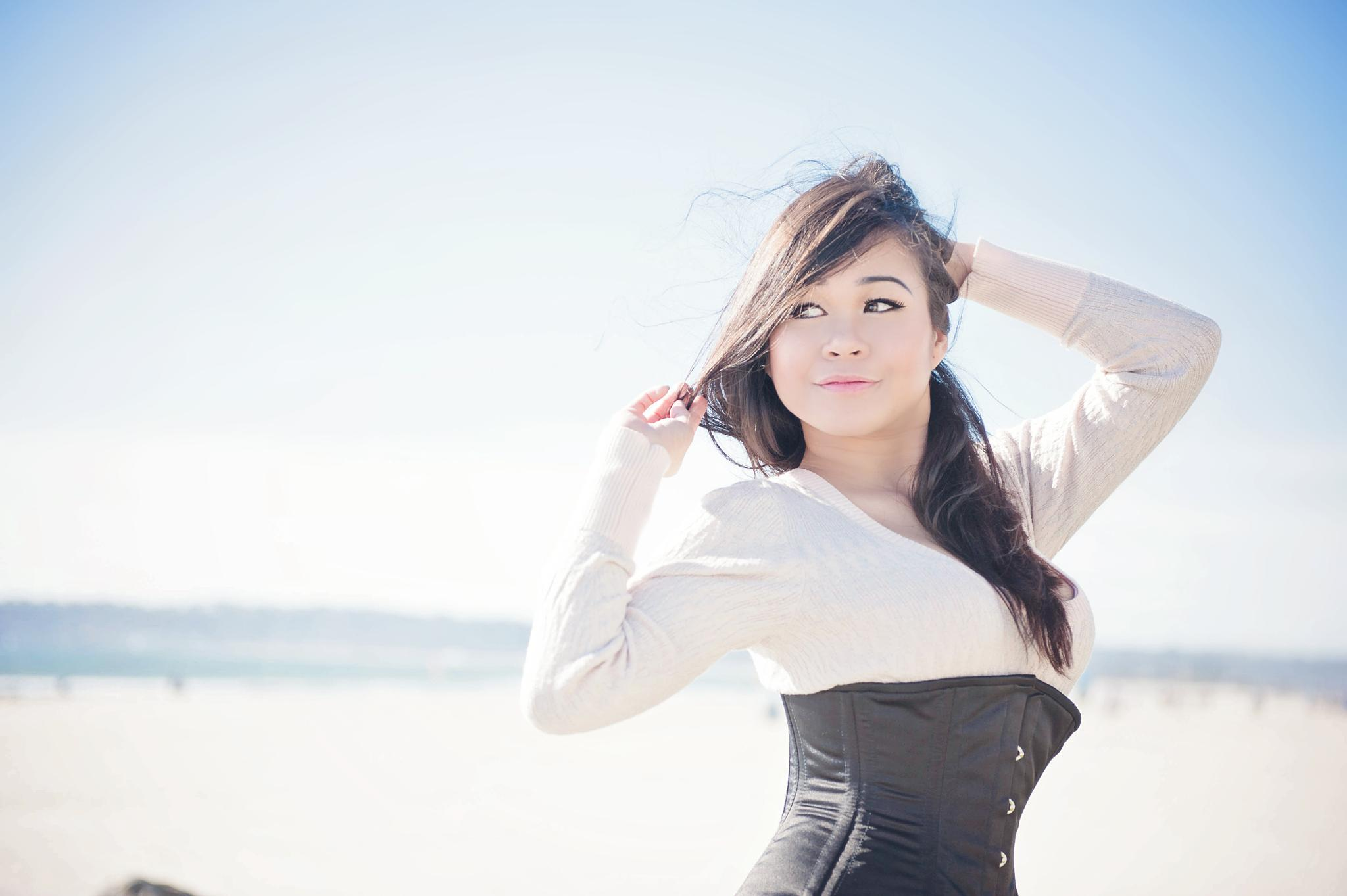 Model at the Beach in San Diego by Kim Reimer