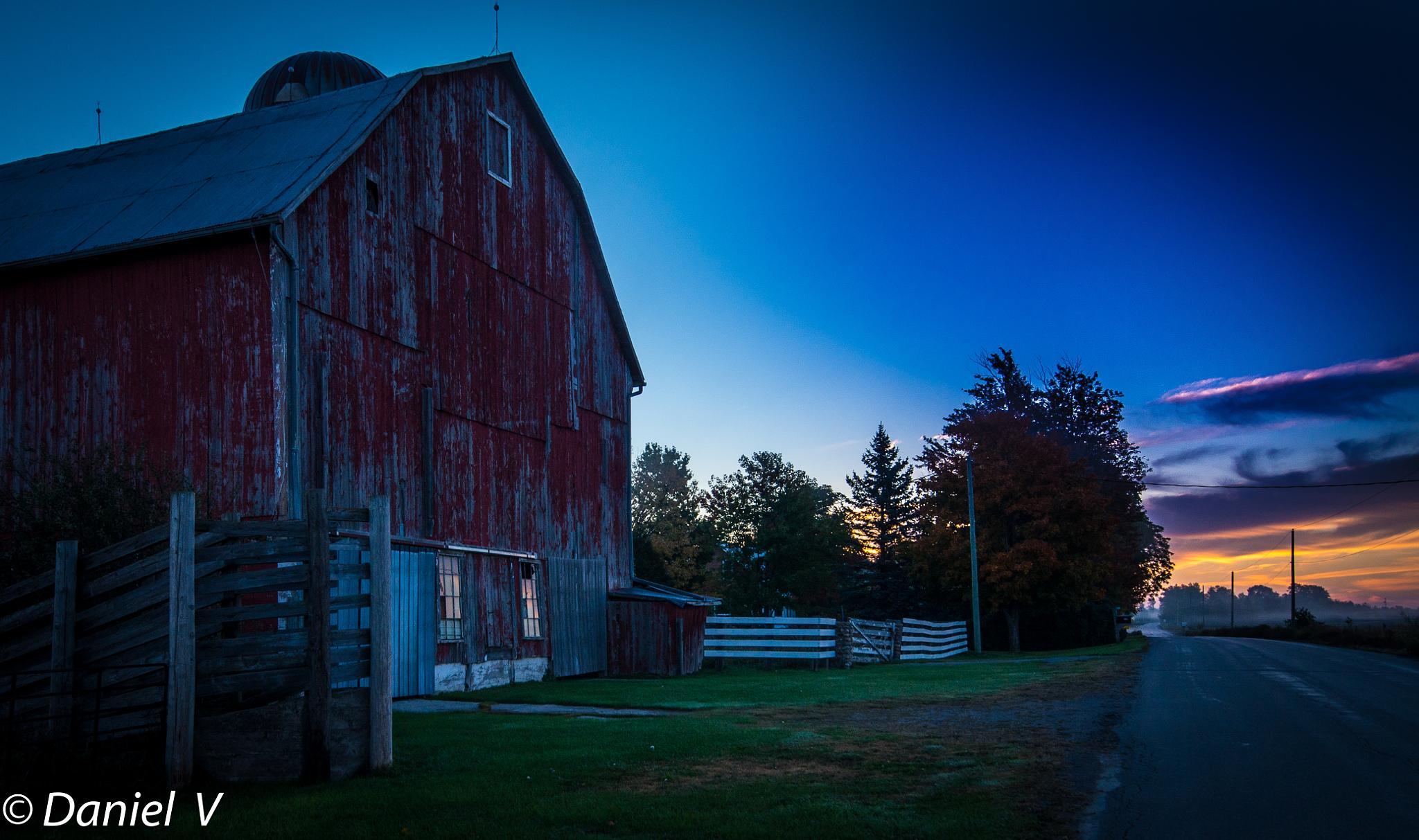 Barn at Dawn by DanVolman