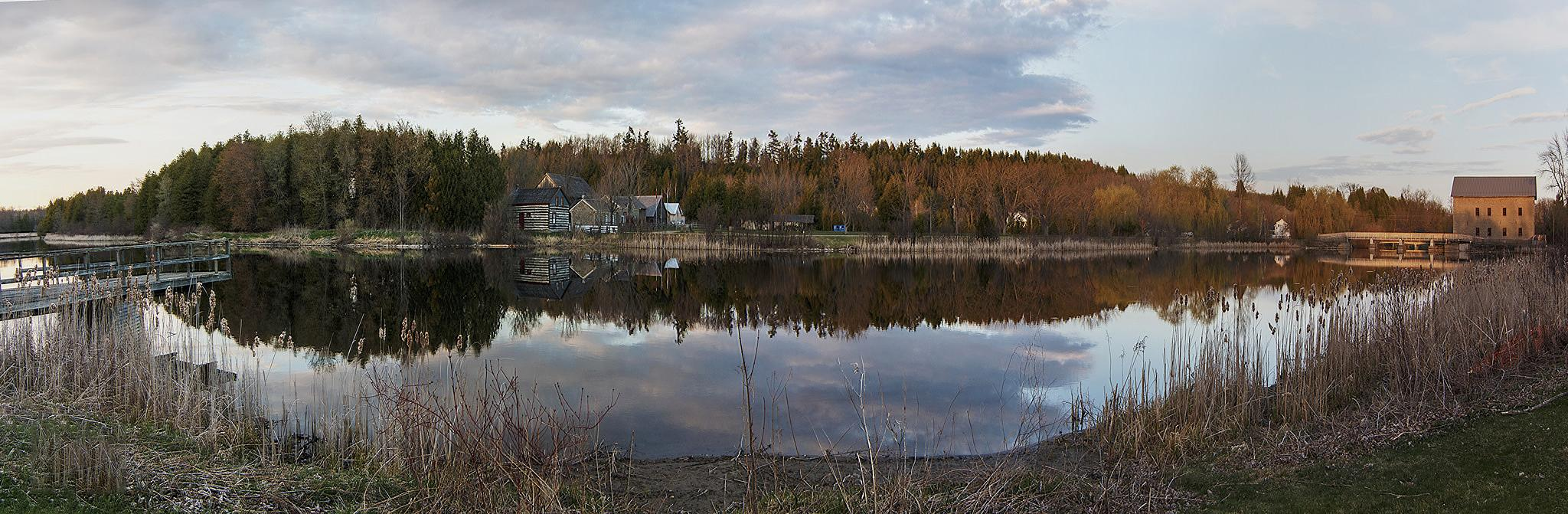 Lang Mill Pond in the Golden Hour by Dave Bremner