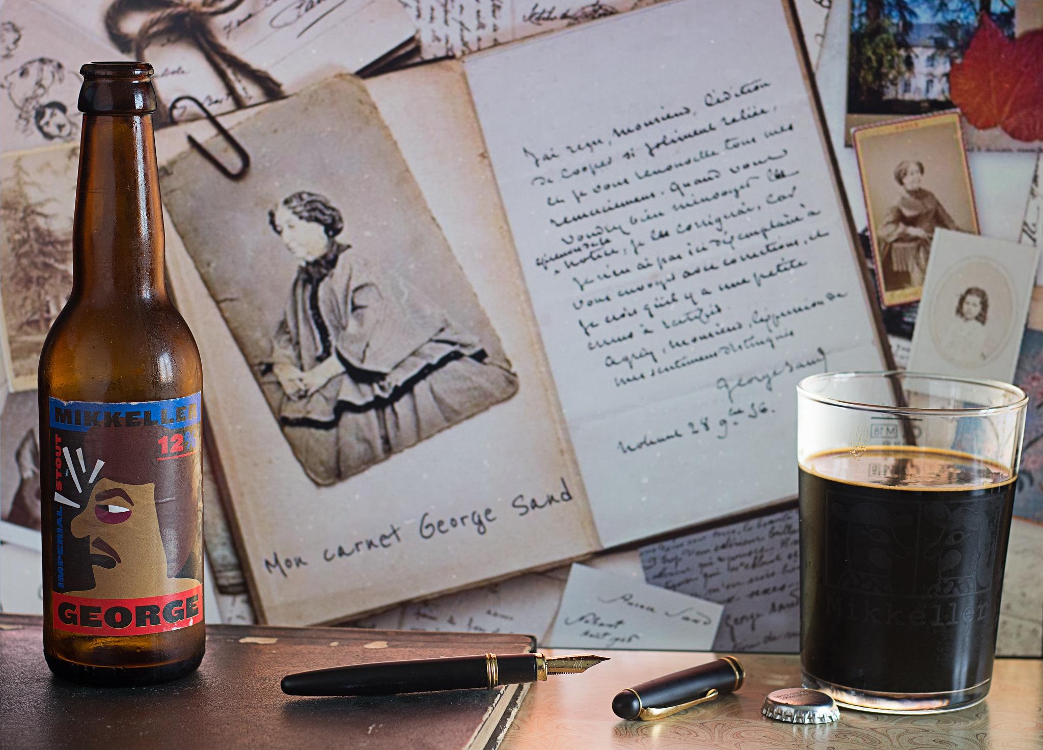 George & carnet de George Sand by Franck Rouanet