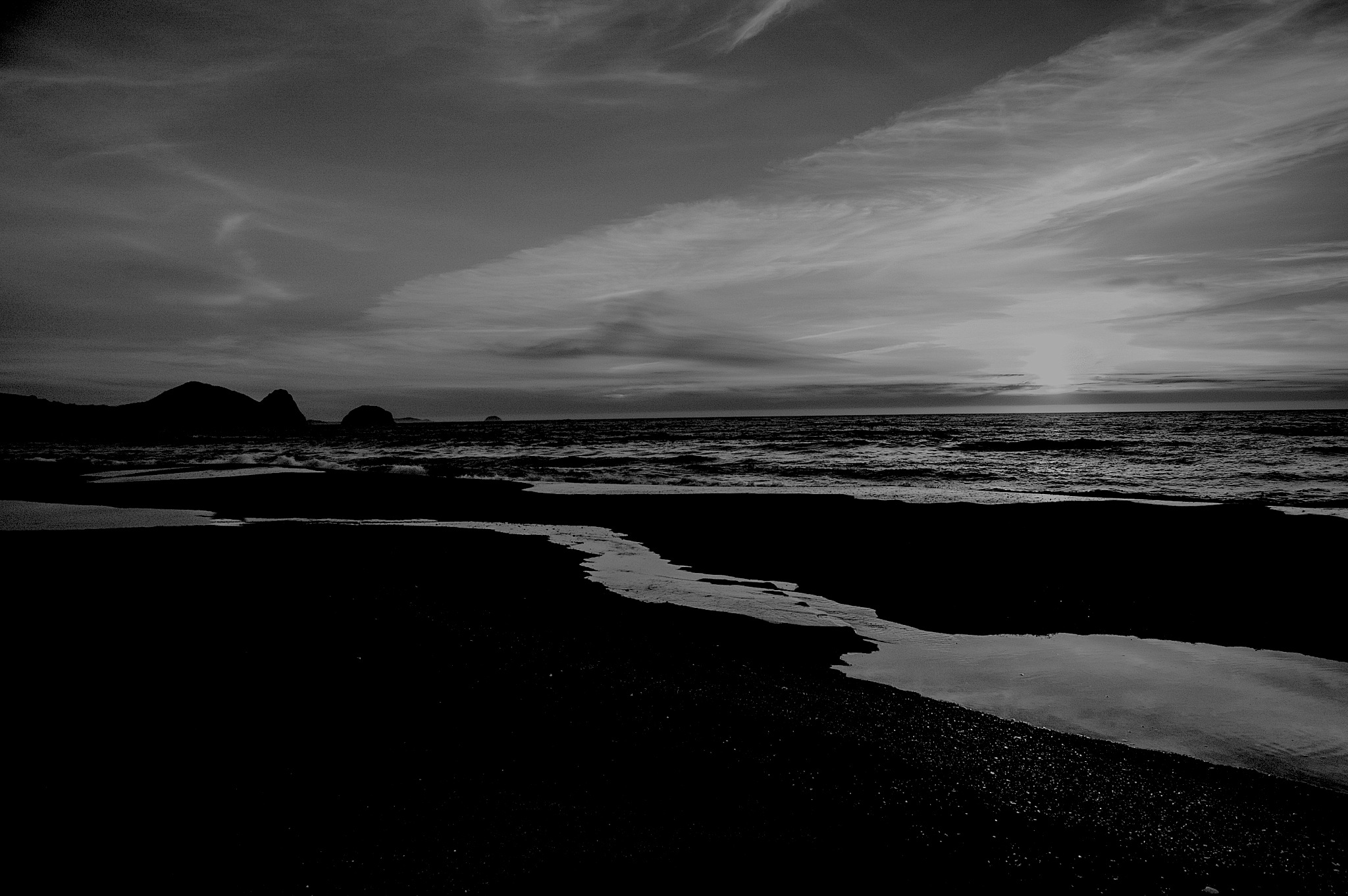 sunset on a Oregon beach by sonny_roger_sonneland