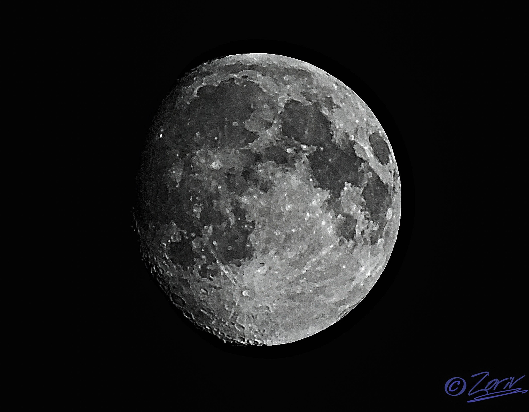 The Moon right now by zoriv
