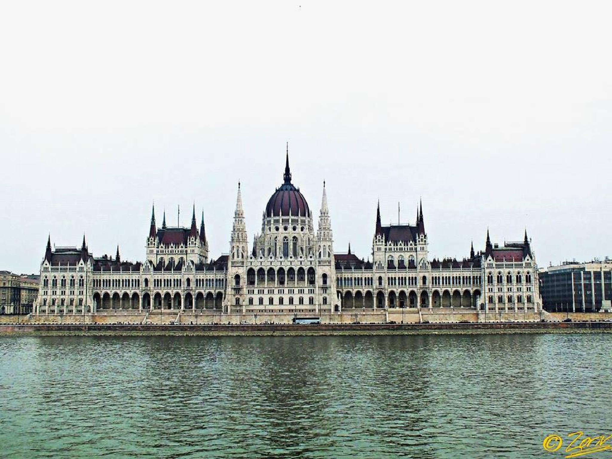 Budapest - The Hungarian Parliament Building ( western side) seen from Buda Bank  by zoriv