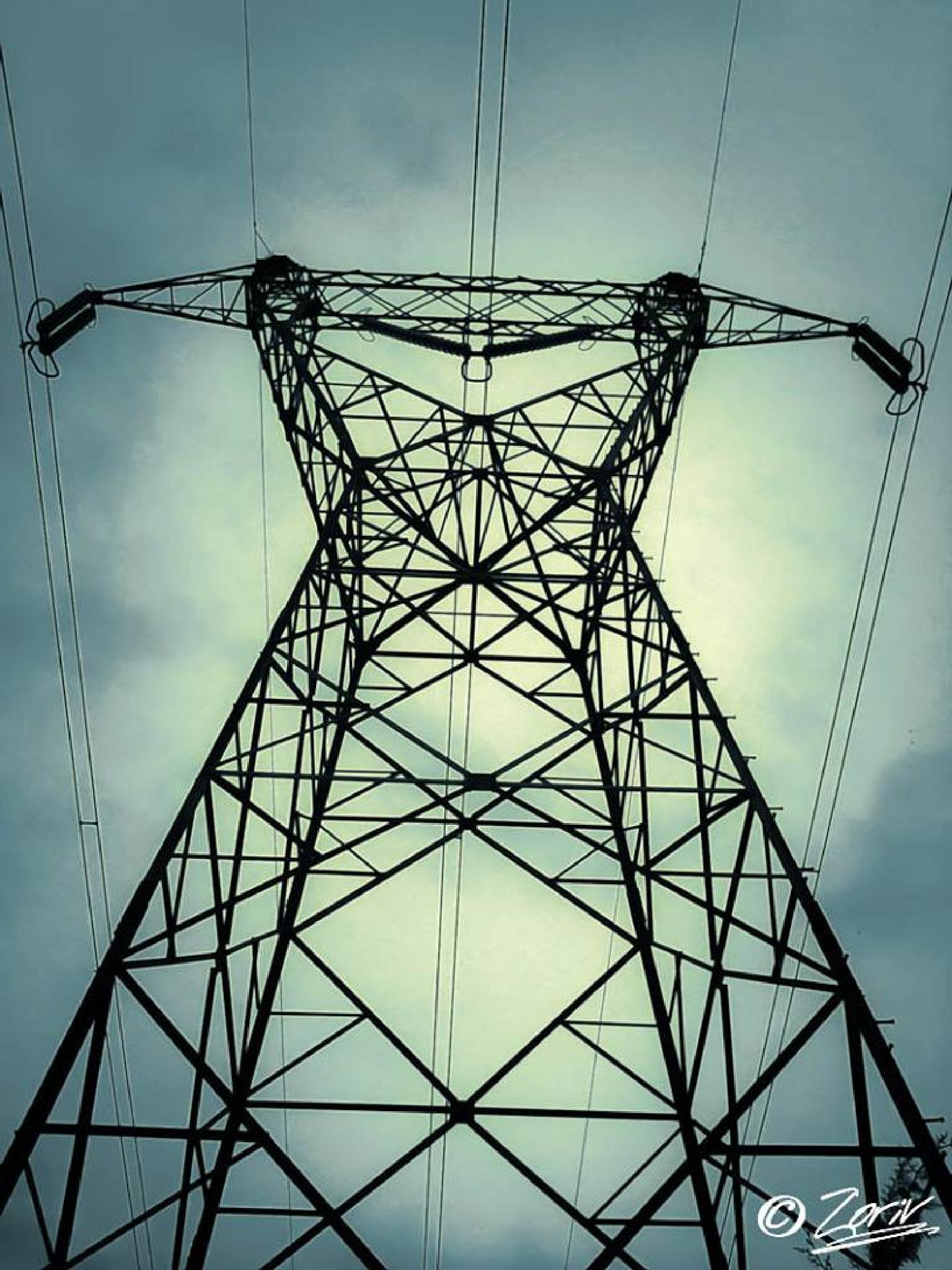 Electrical transmission tower by zoriv