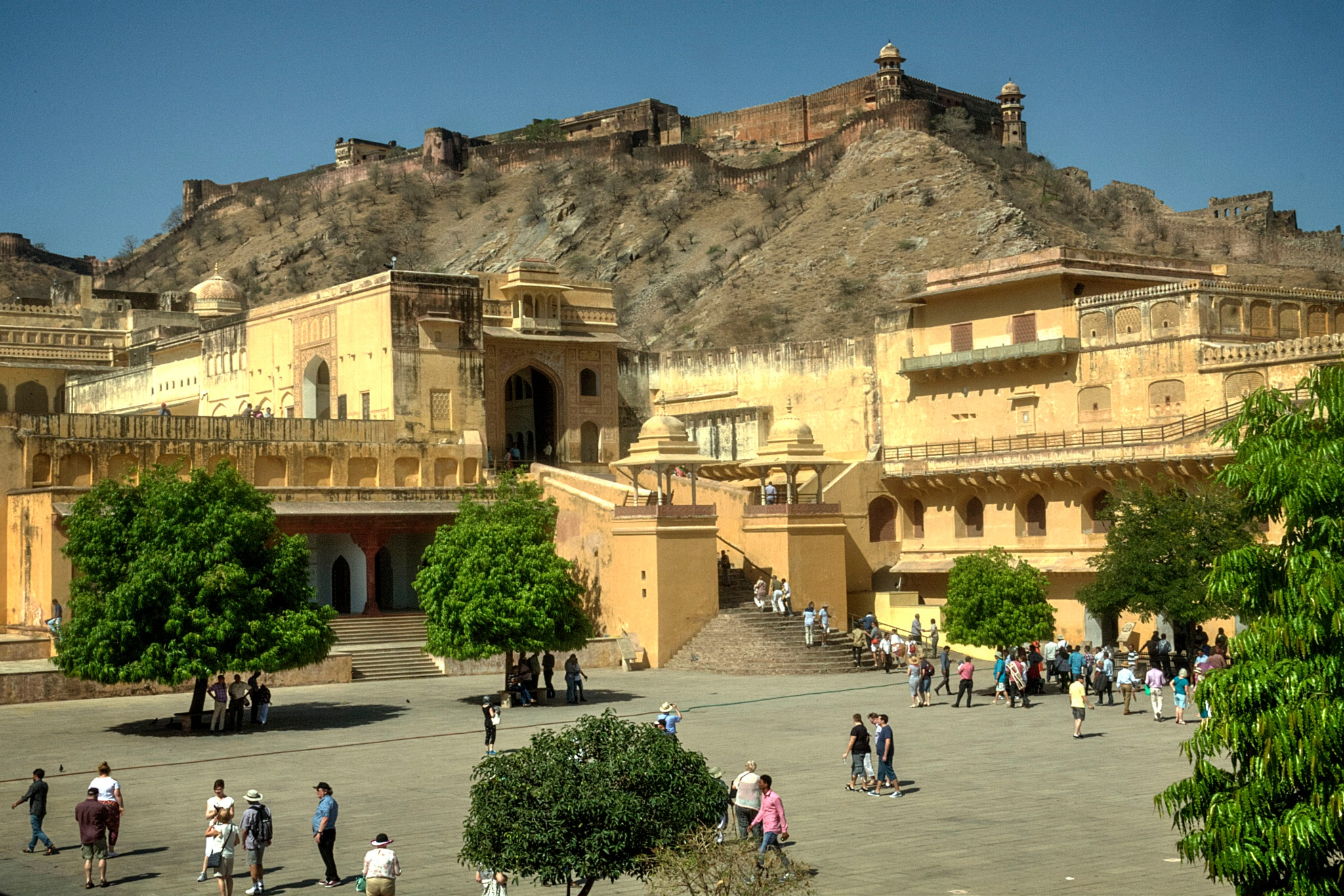1st Courtyard Amer Fort by Willpower