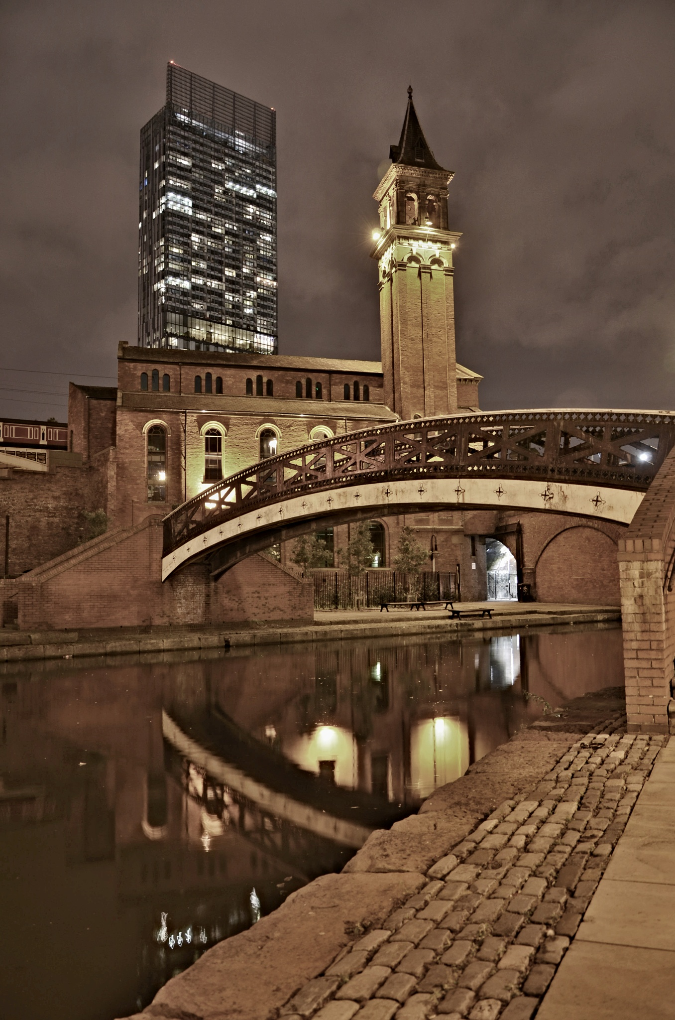 manchester waterways by night by pwol