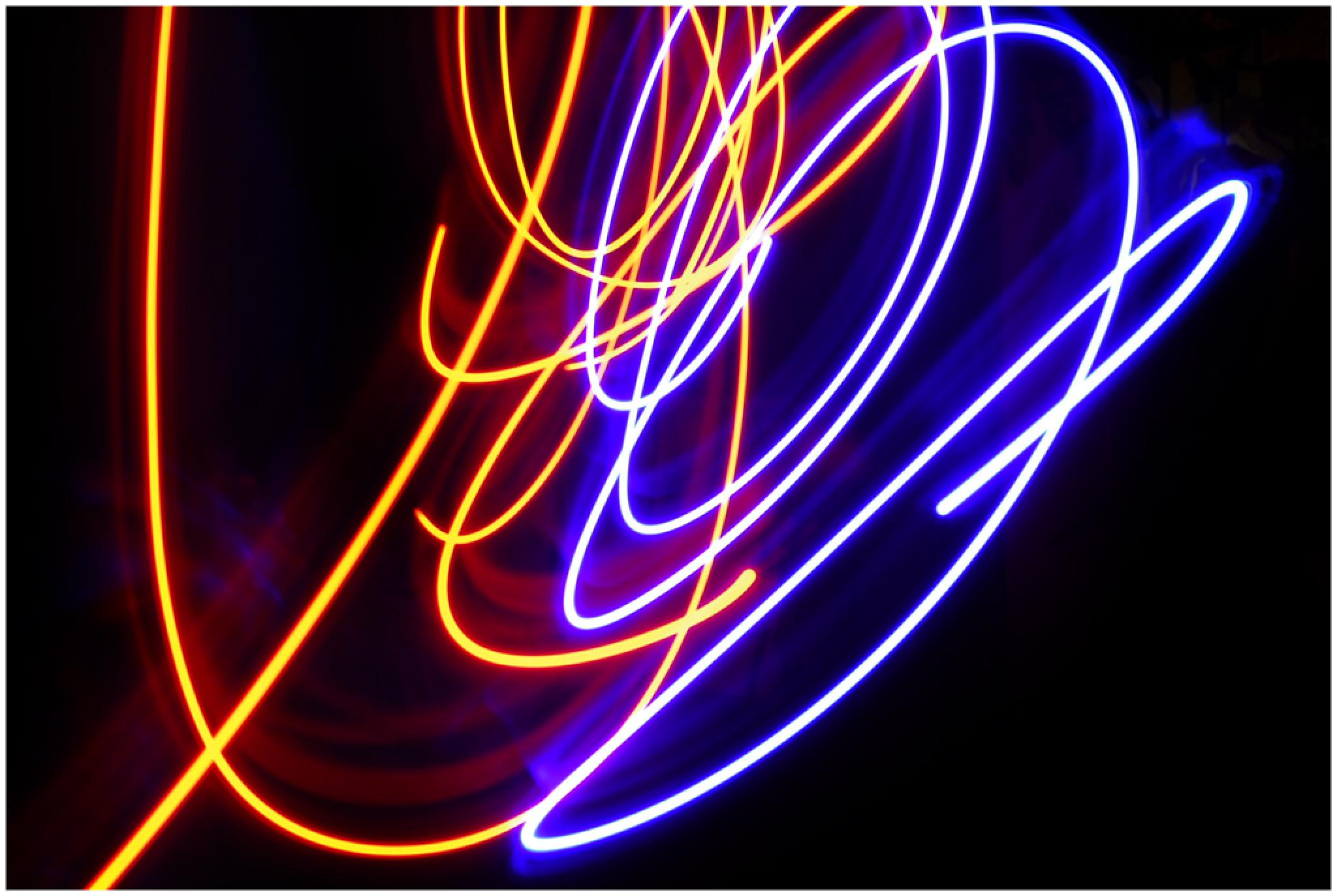 Painting with light by Bertie Price