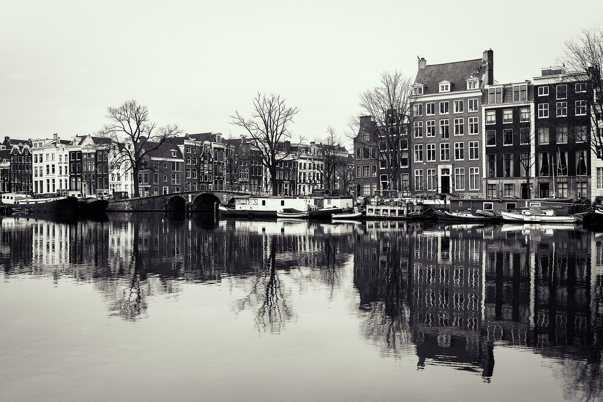 Amsterdam cityscape by Angel Flores