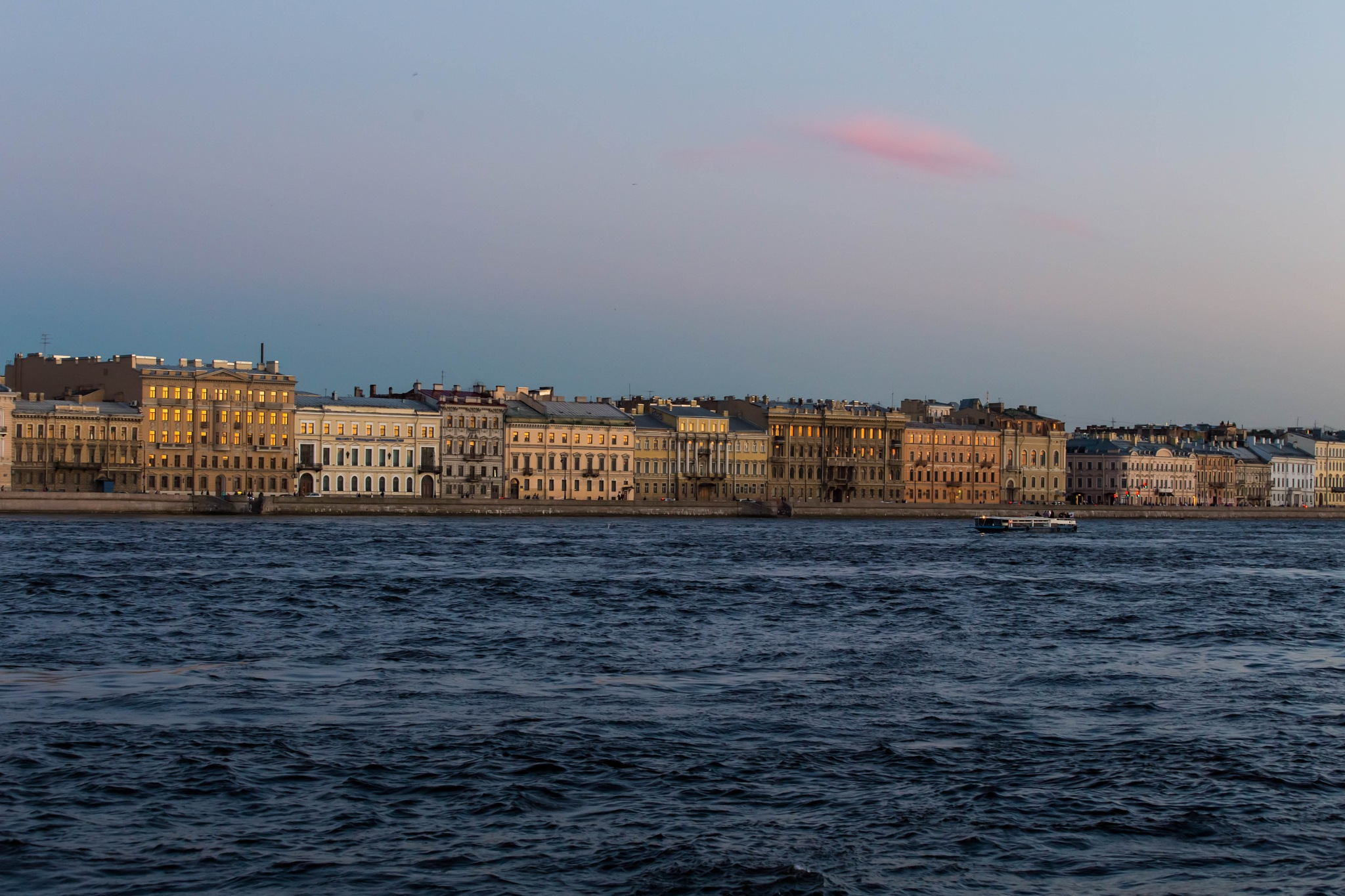 St. Petersburg Embankment by aquareele