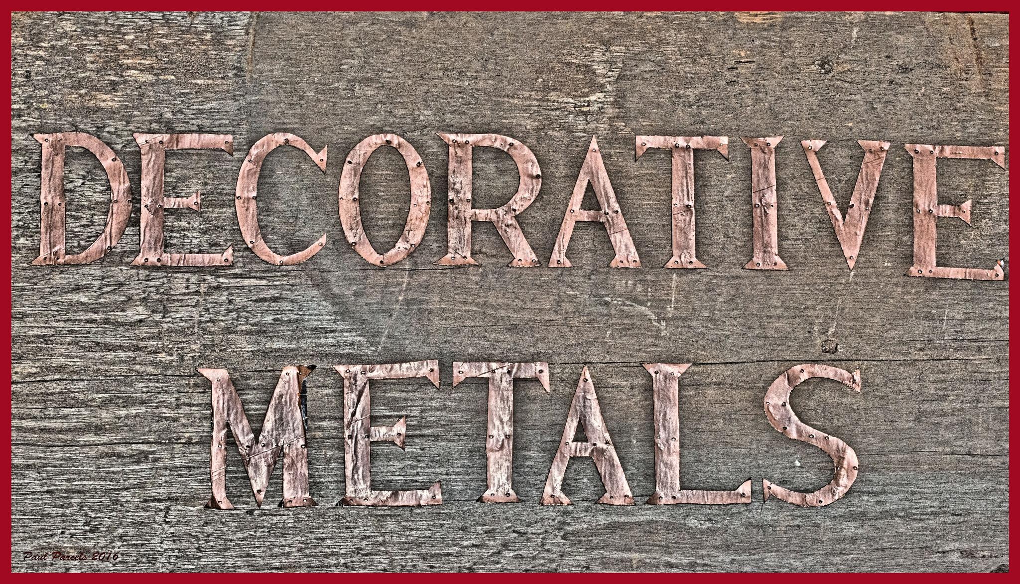 Decorative Metals by photomanpaul77