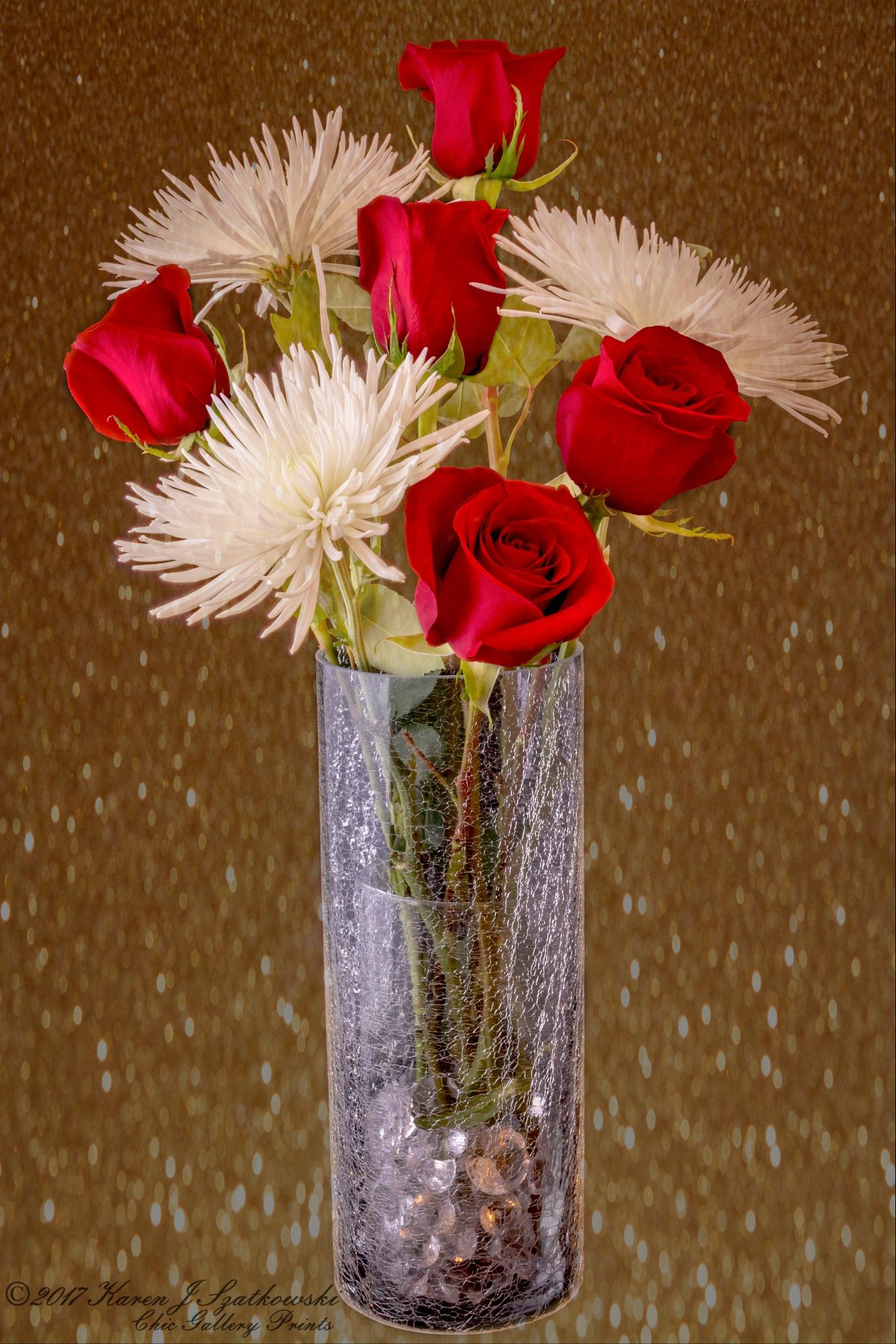 Rose Bouquet by Karen J. Garlock-Szatkowski