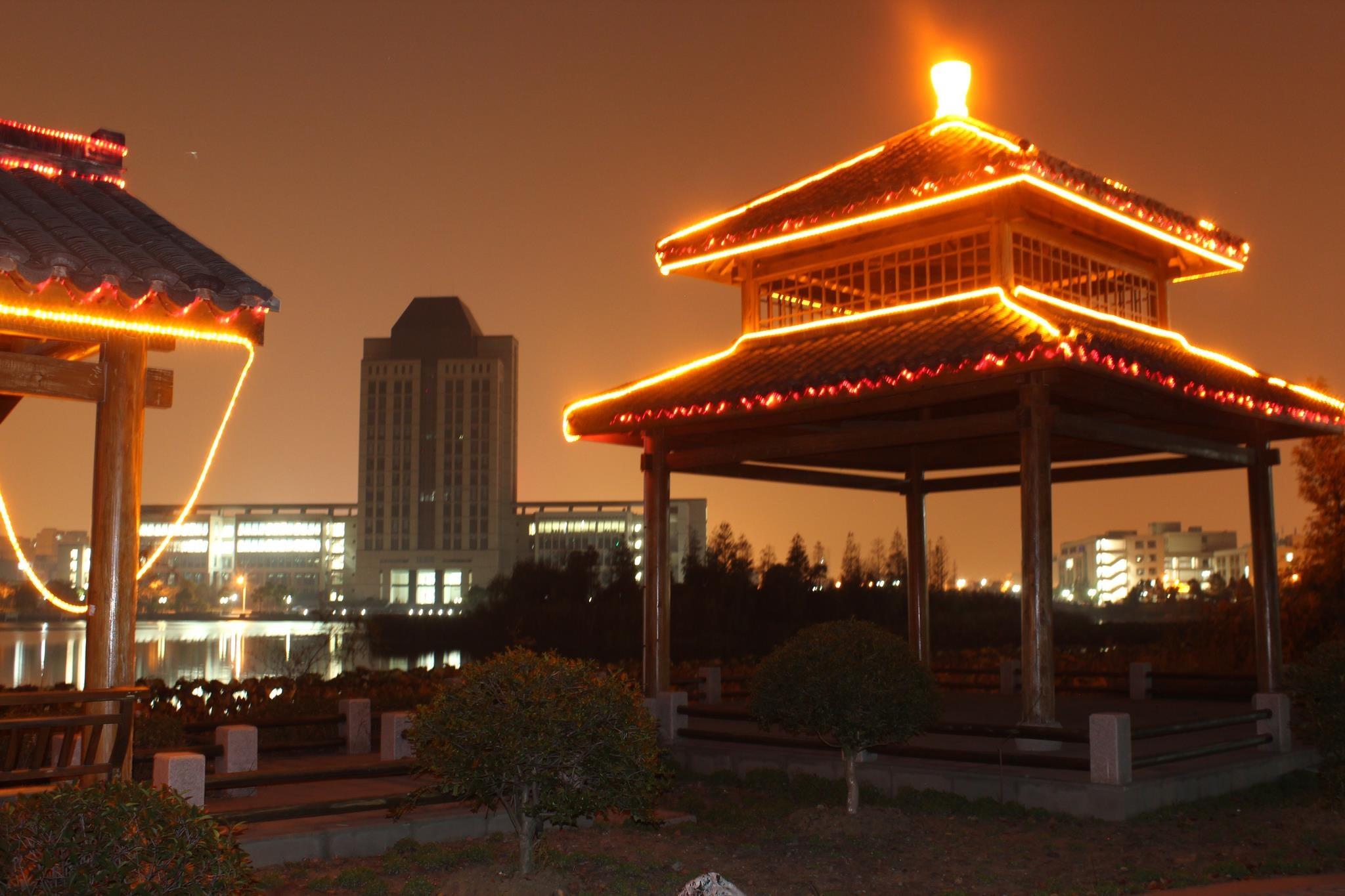 Pagodas at Night by John Kelle