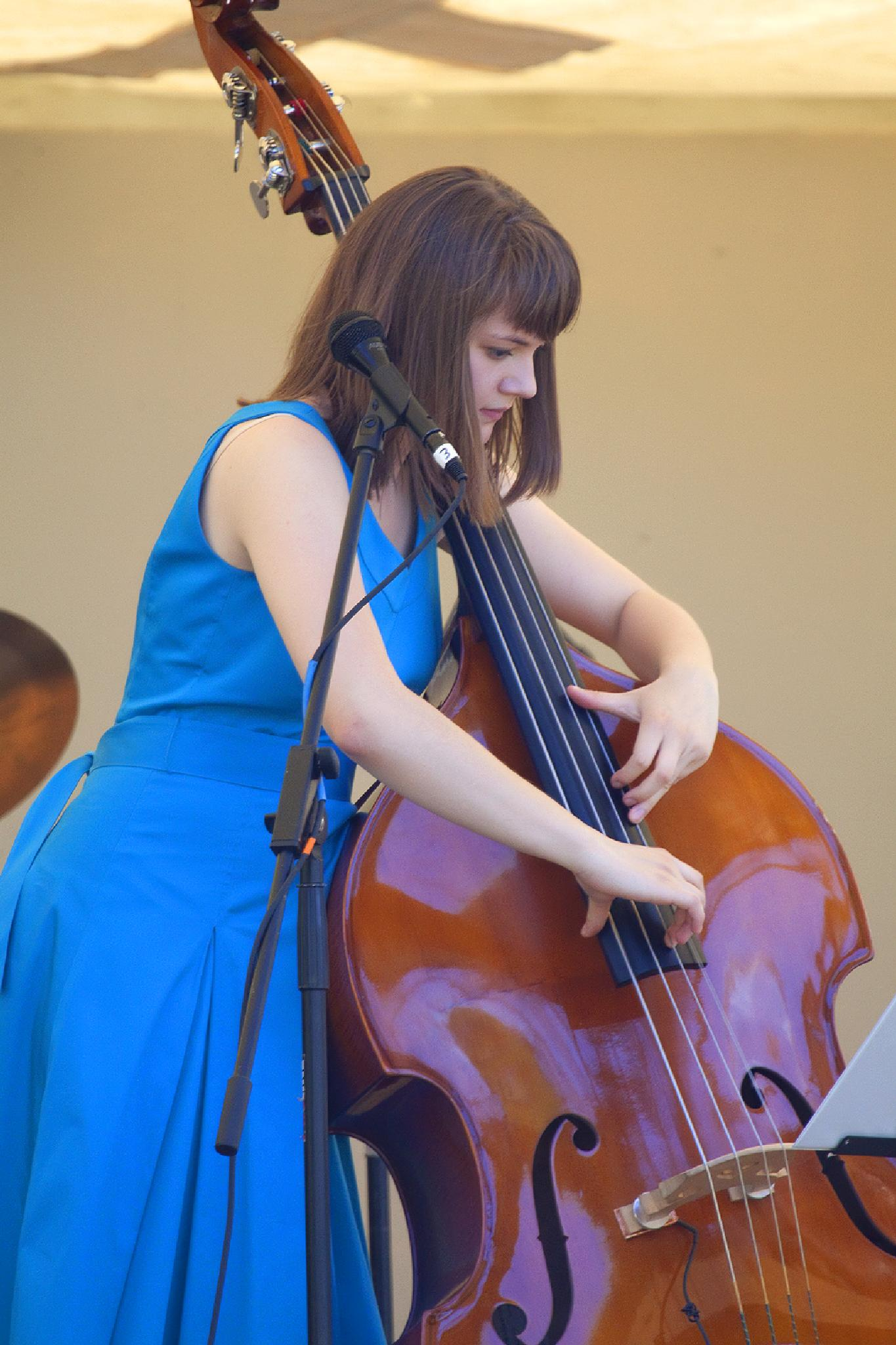 Kate Davis, bassist and vocalist by Wags