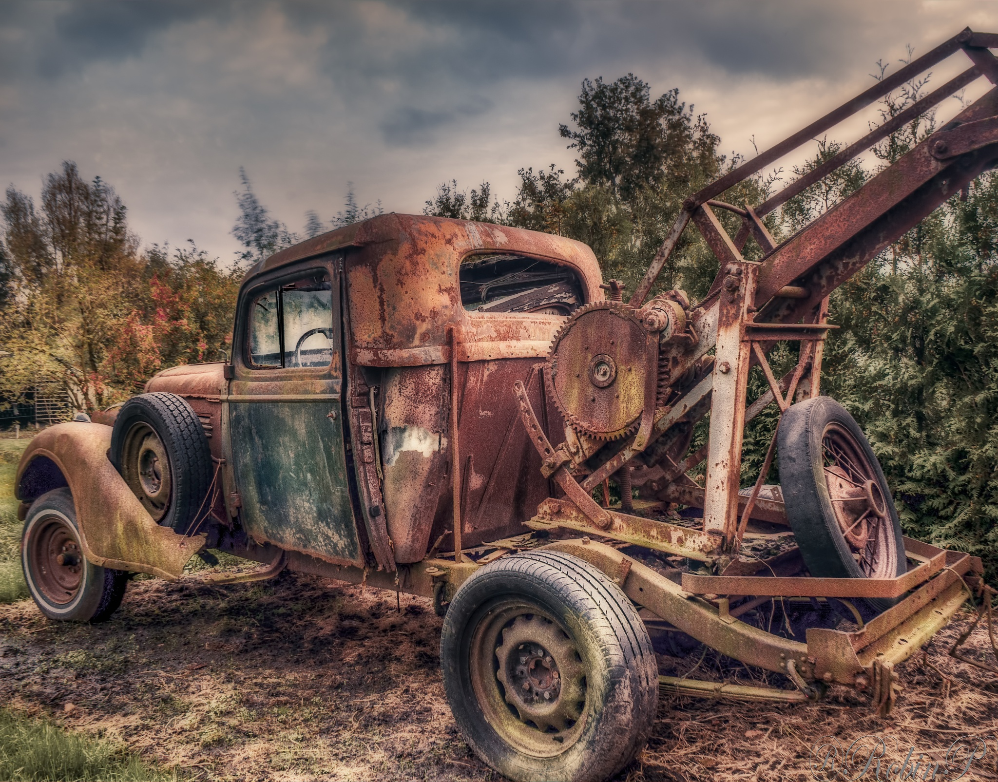 the old towtruck by Robin Pulles