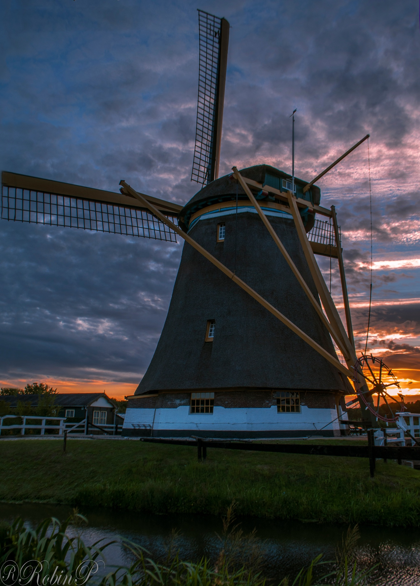 Photo in Landscape #holland #windmill #water #sunset #clouds