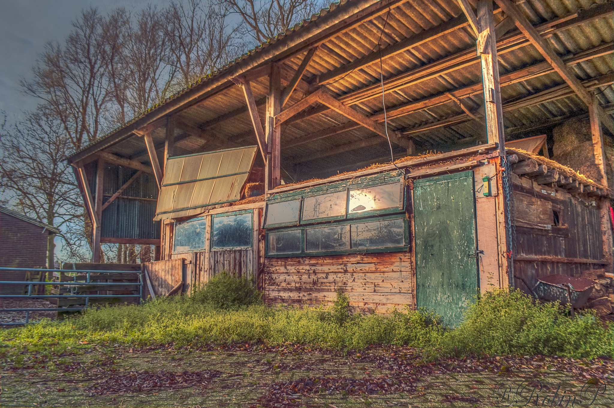 Old barn in the wintersun by Robin Pulles