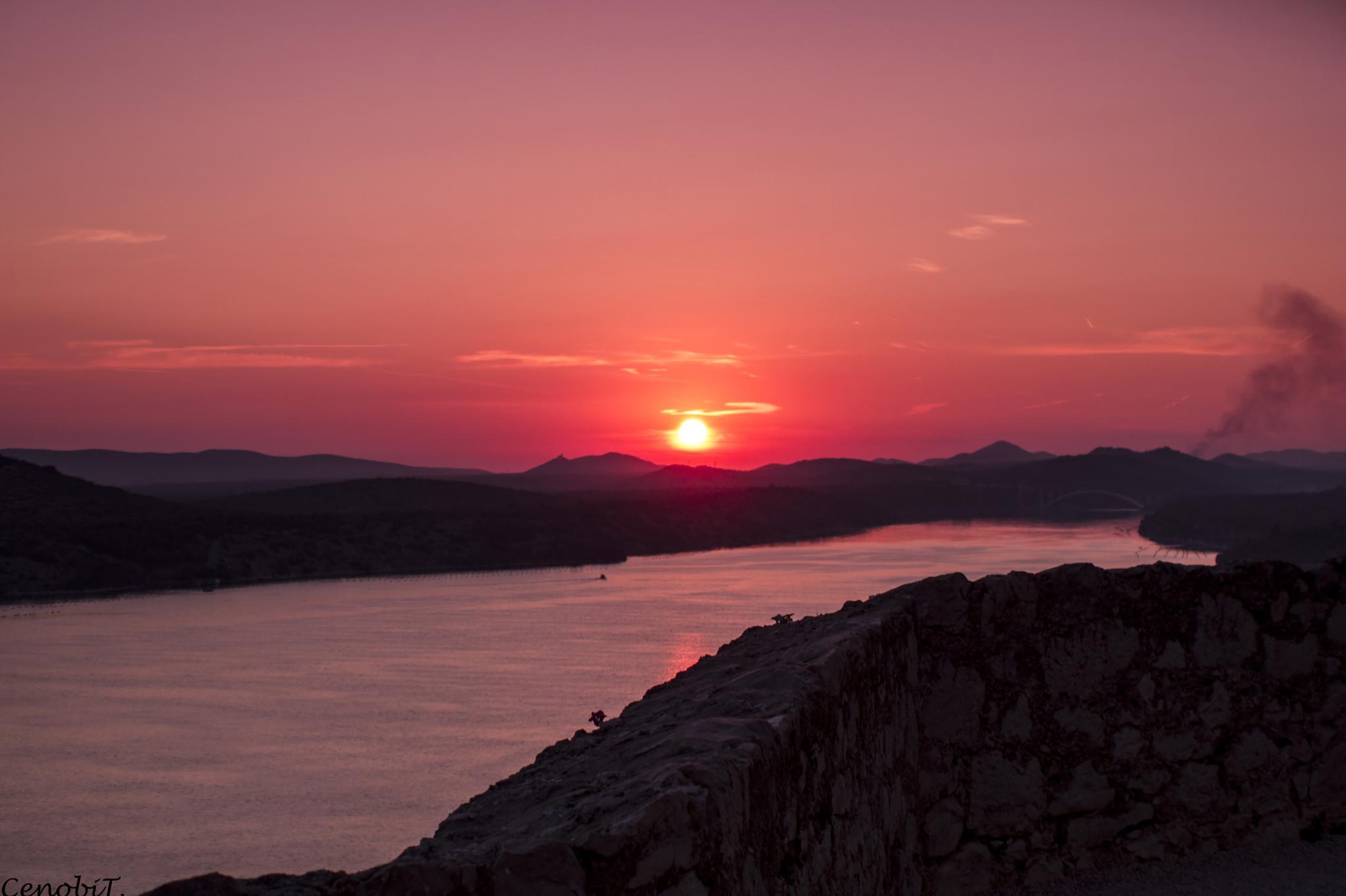Sunset in Sibenik by Tina Zdilar