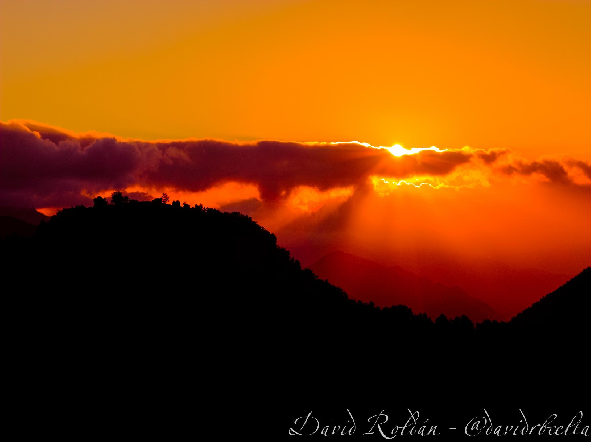 orange sunrise by David Roldán