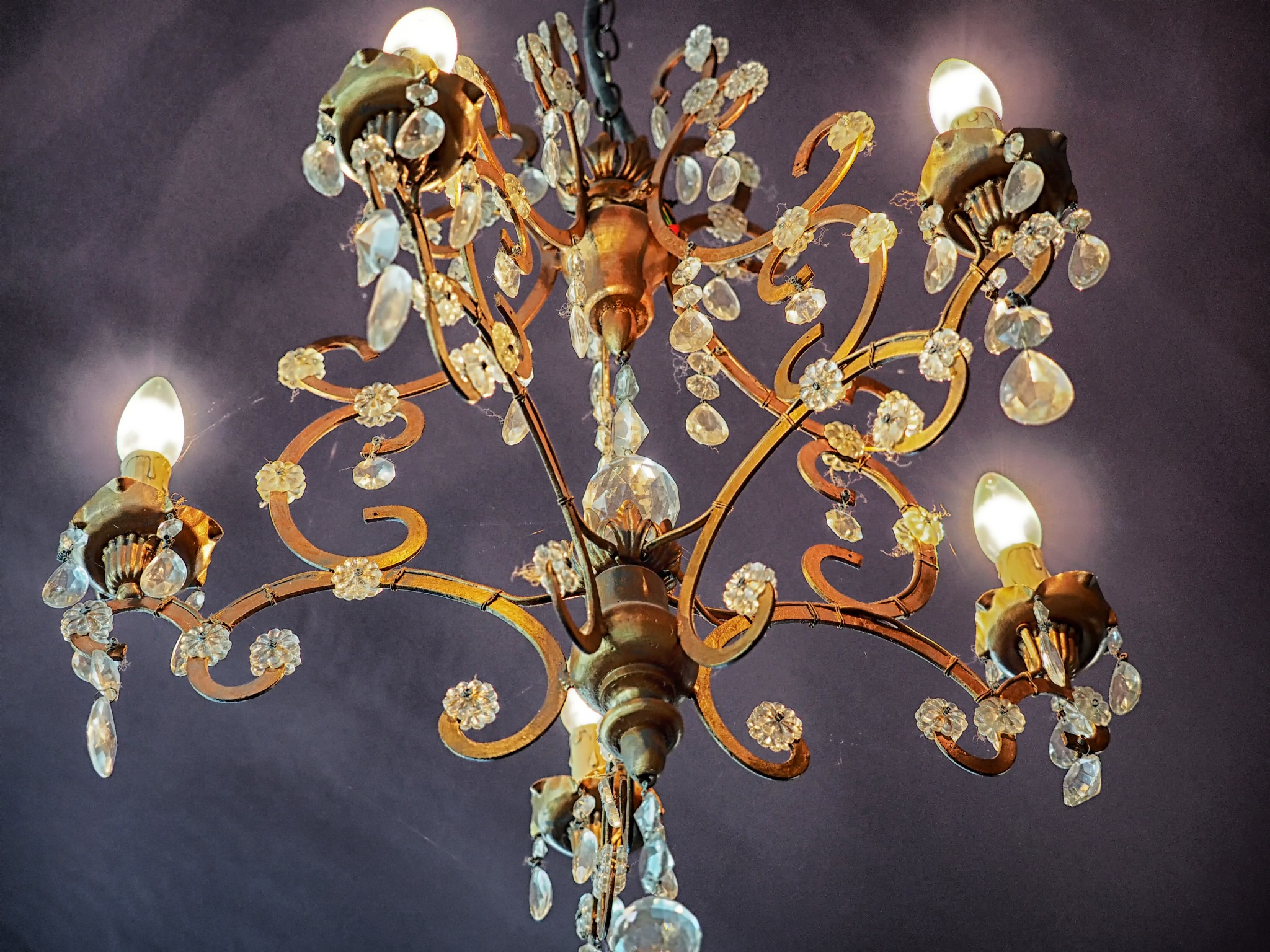Detail of a chandelier 2 by Mike Roberts