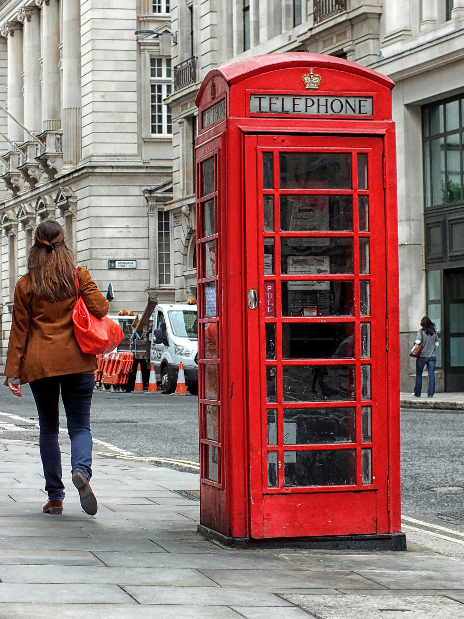 A classic phone box in the City of London by Mike Roberts