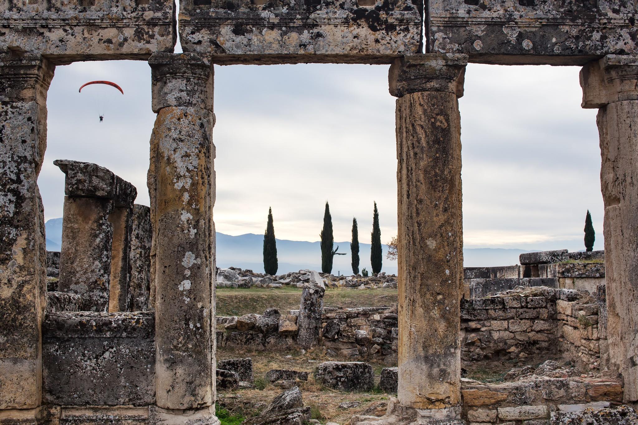Flight over Hierapolis by Lothar Bendix