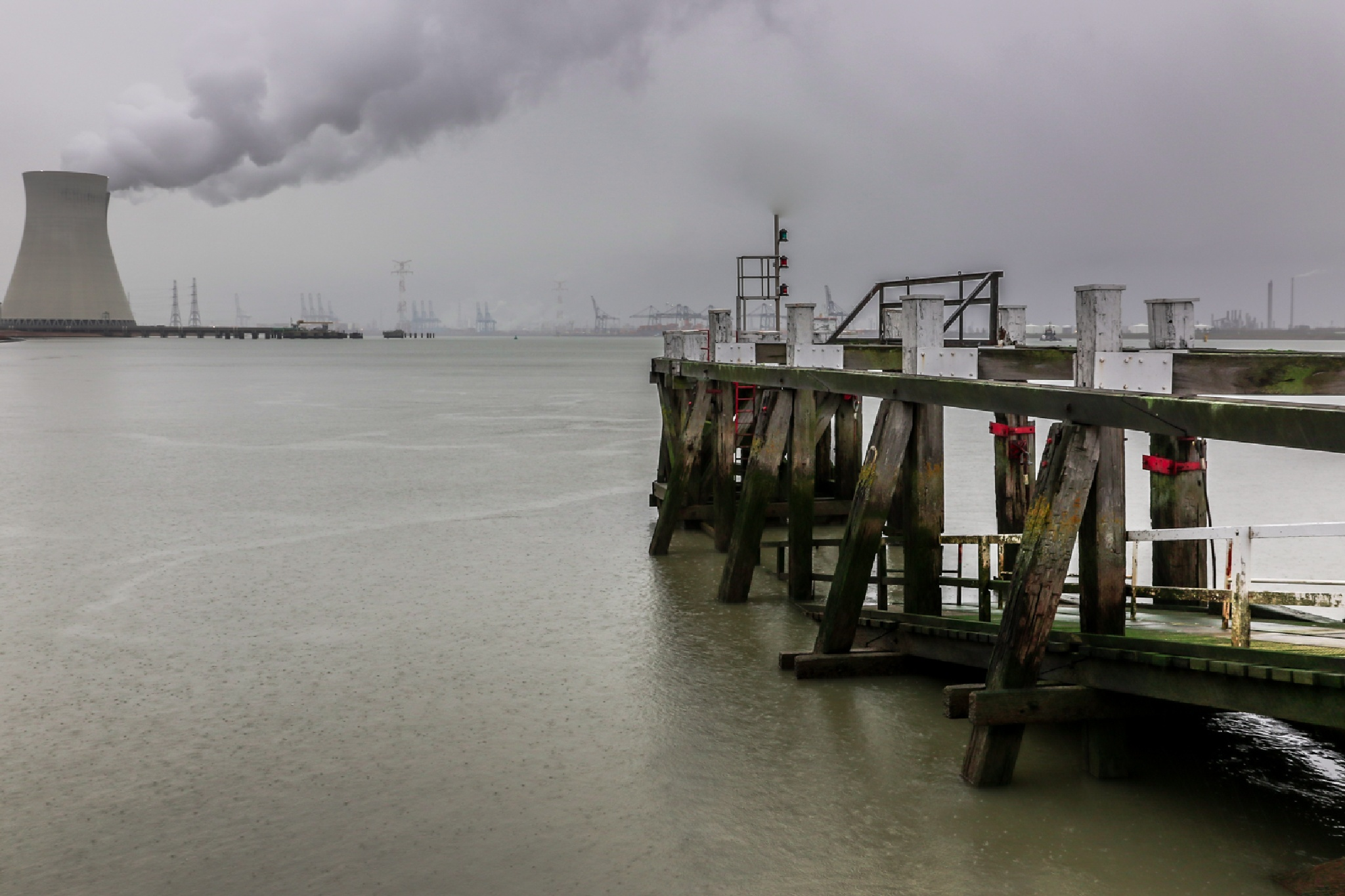 nuclear power station Doel Belgium by Ronny Andries