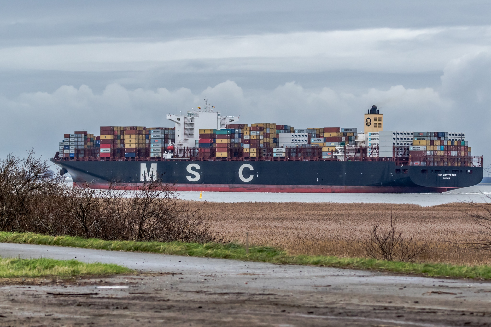 container ship by Ronny Andries