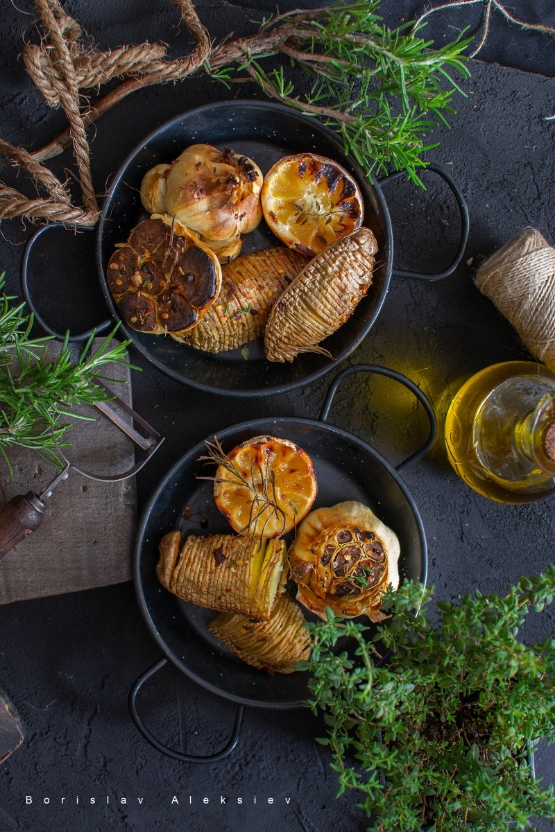 Baked potatoes by Borislav Aleksiev