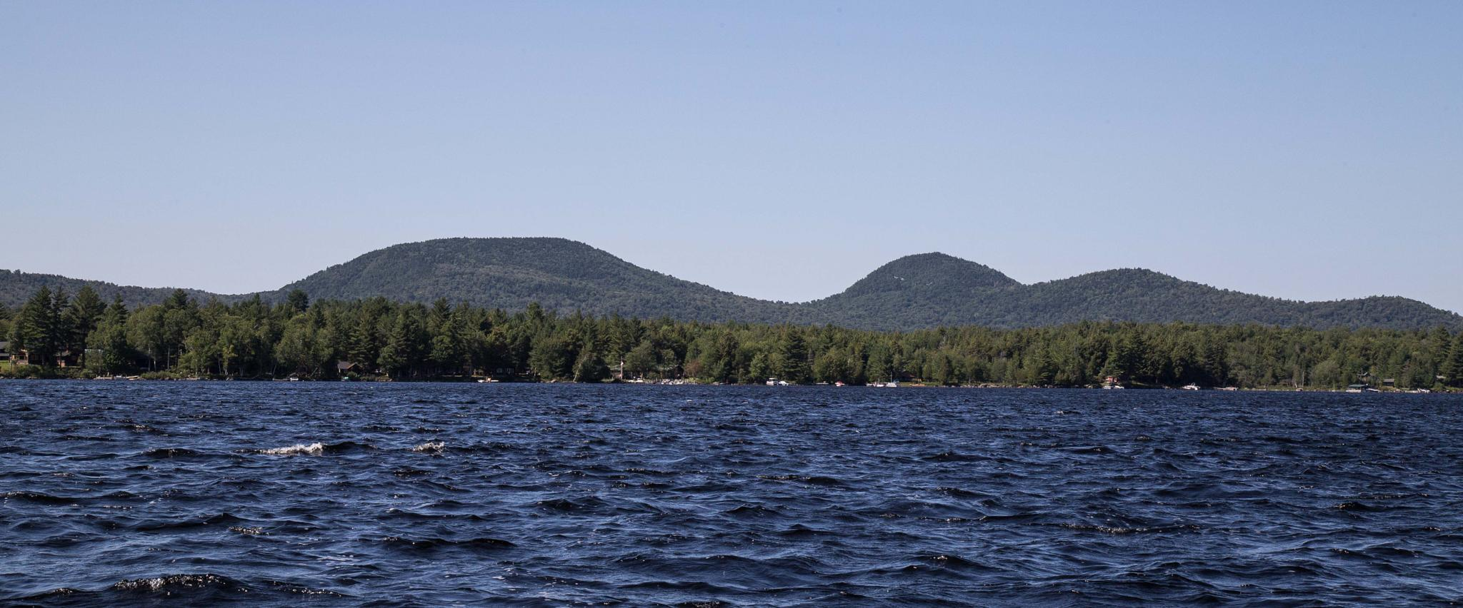 Mountains overlooking Racquette Lake by Rachel Maher
