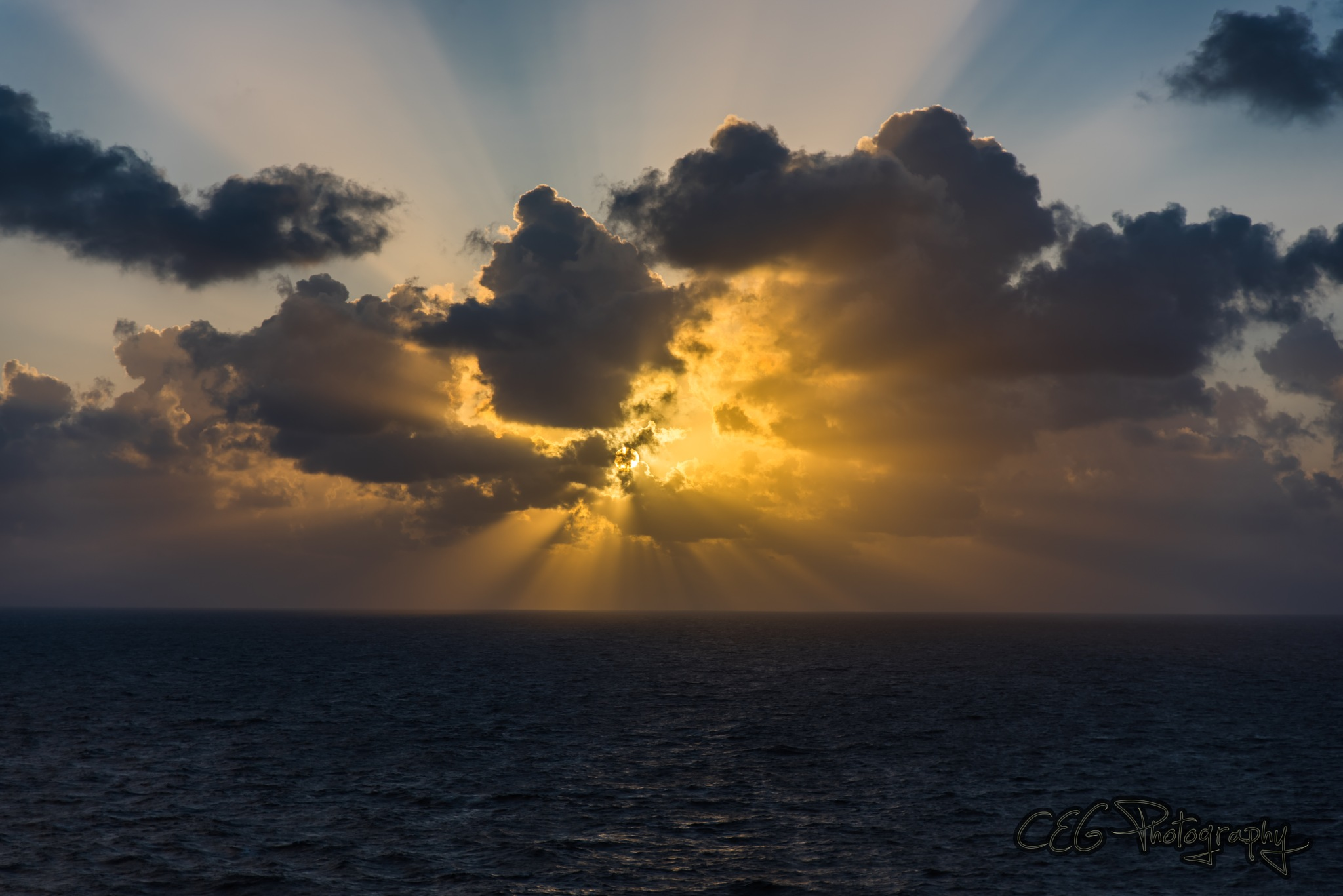 Sunrise in the clouds by CEG Photography