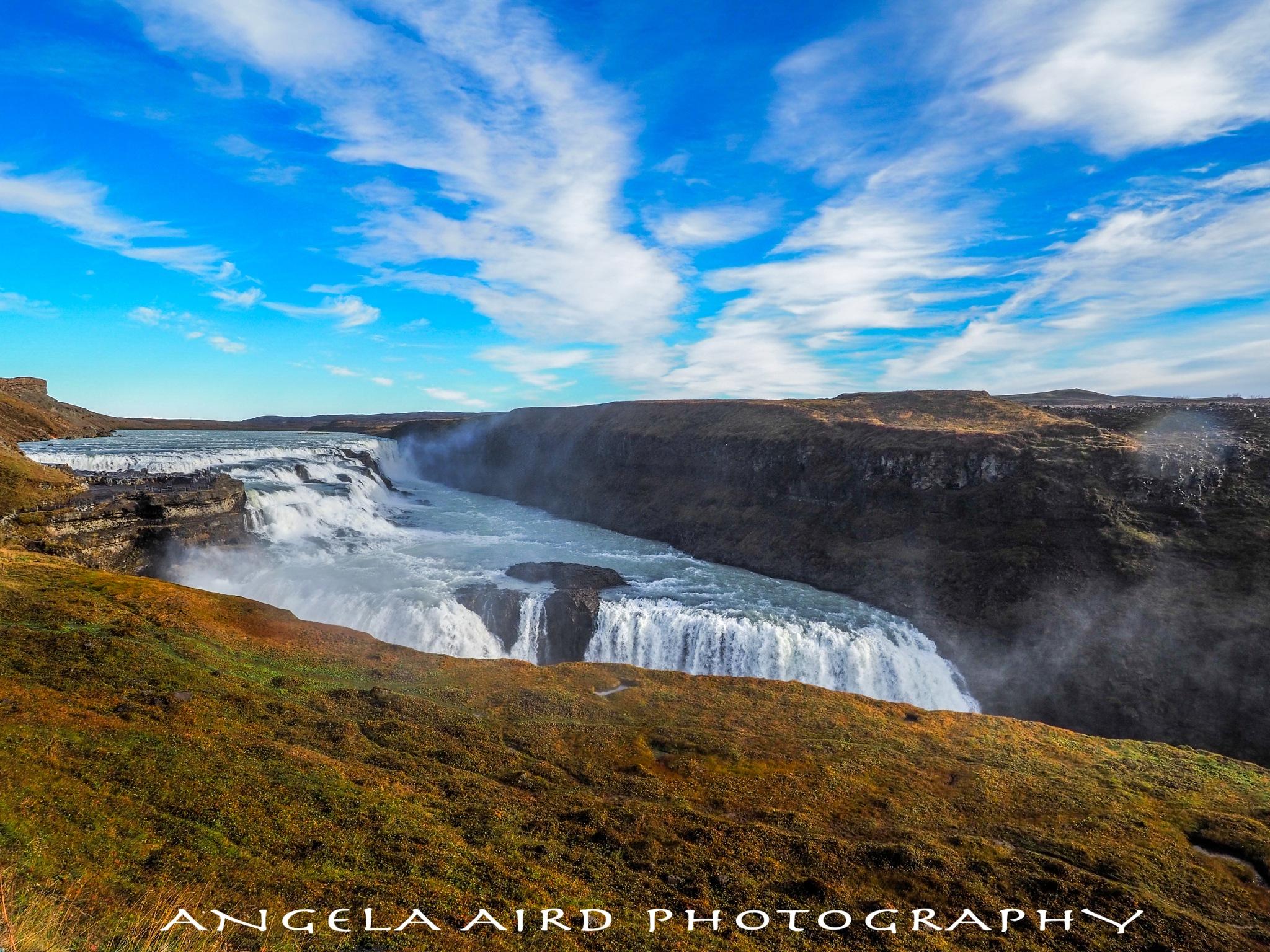 Gulfoss waterfall by Angie Aird