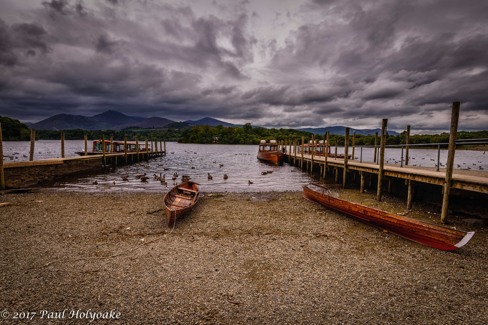 Boats at Derwent Water by Photon