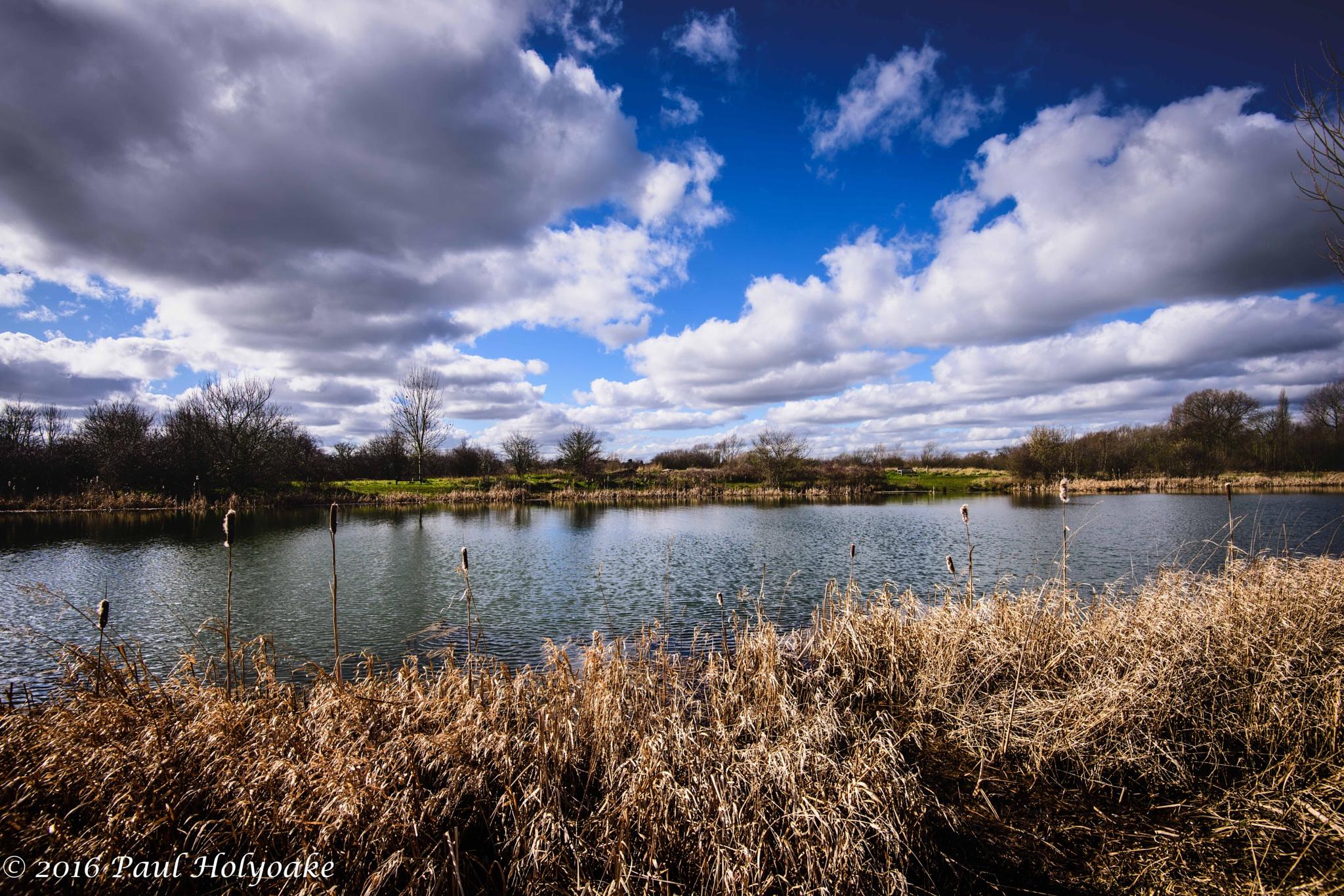 Cloudy Lake by Photon