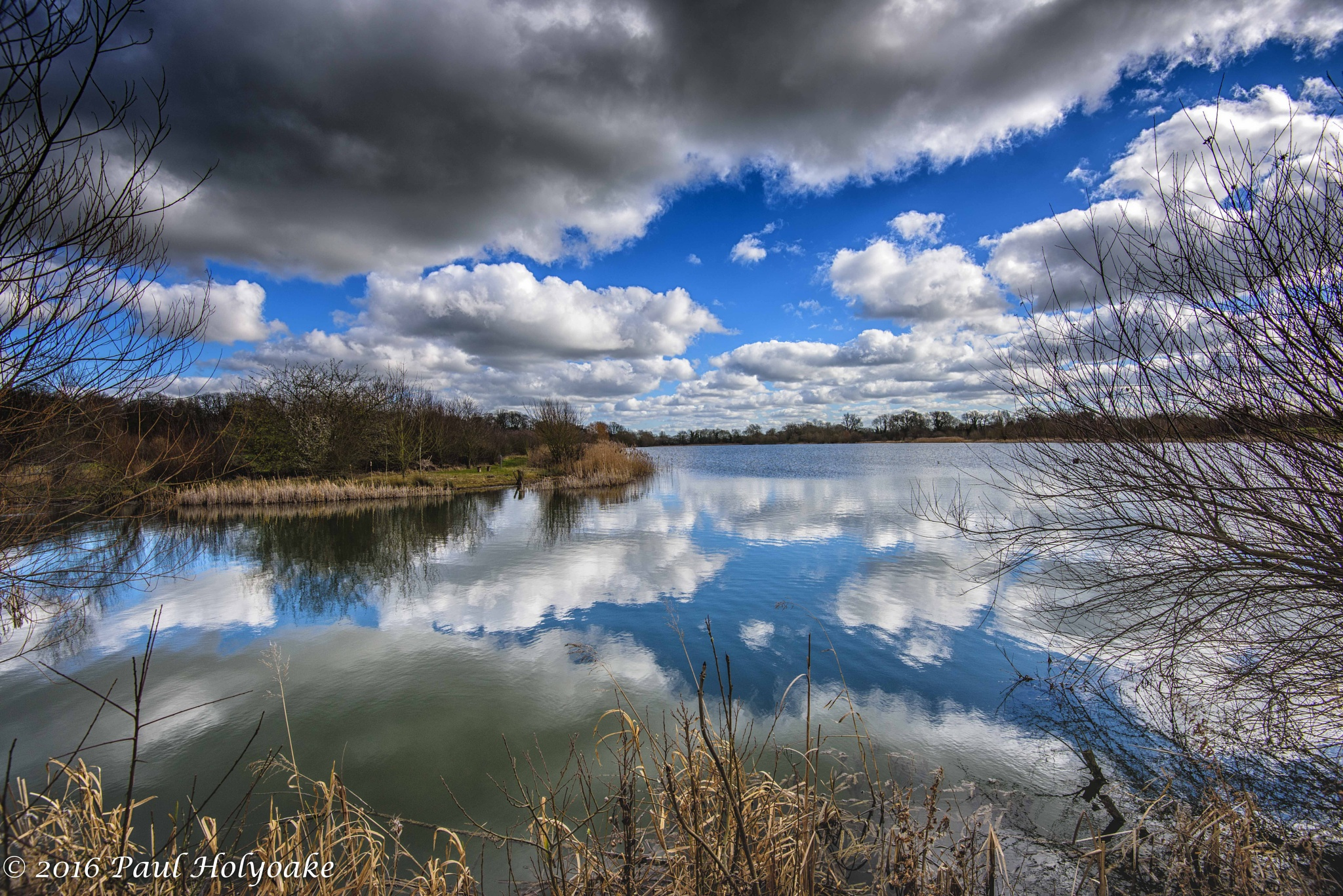 Photo in Landscape #clouds #reflection #lake