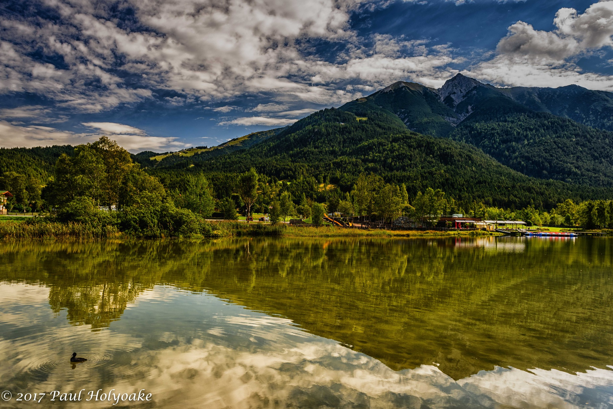 Mountain Lake by Photon