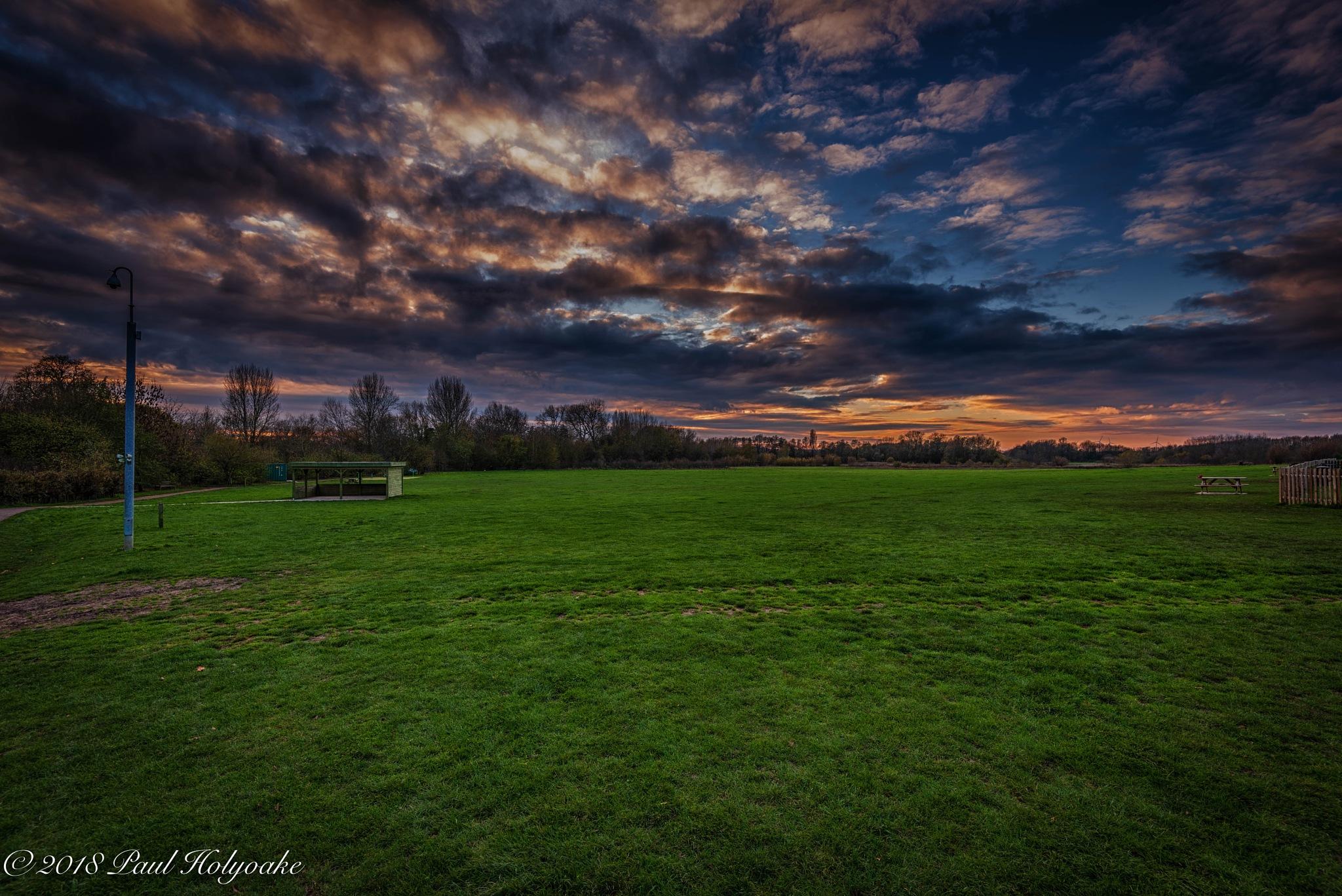 Park Sunset by Photon