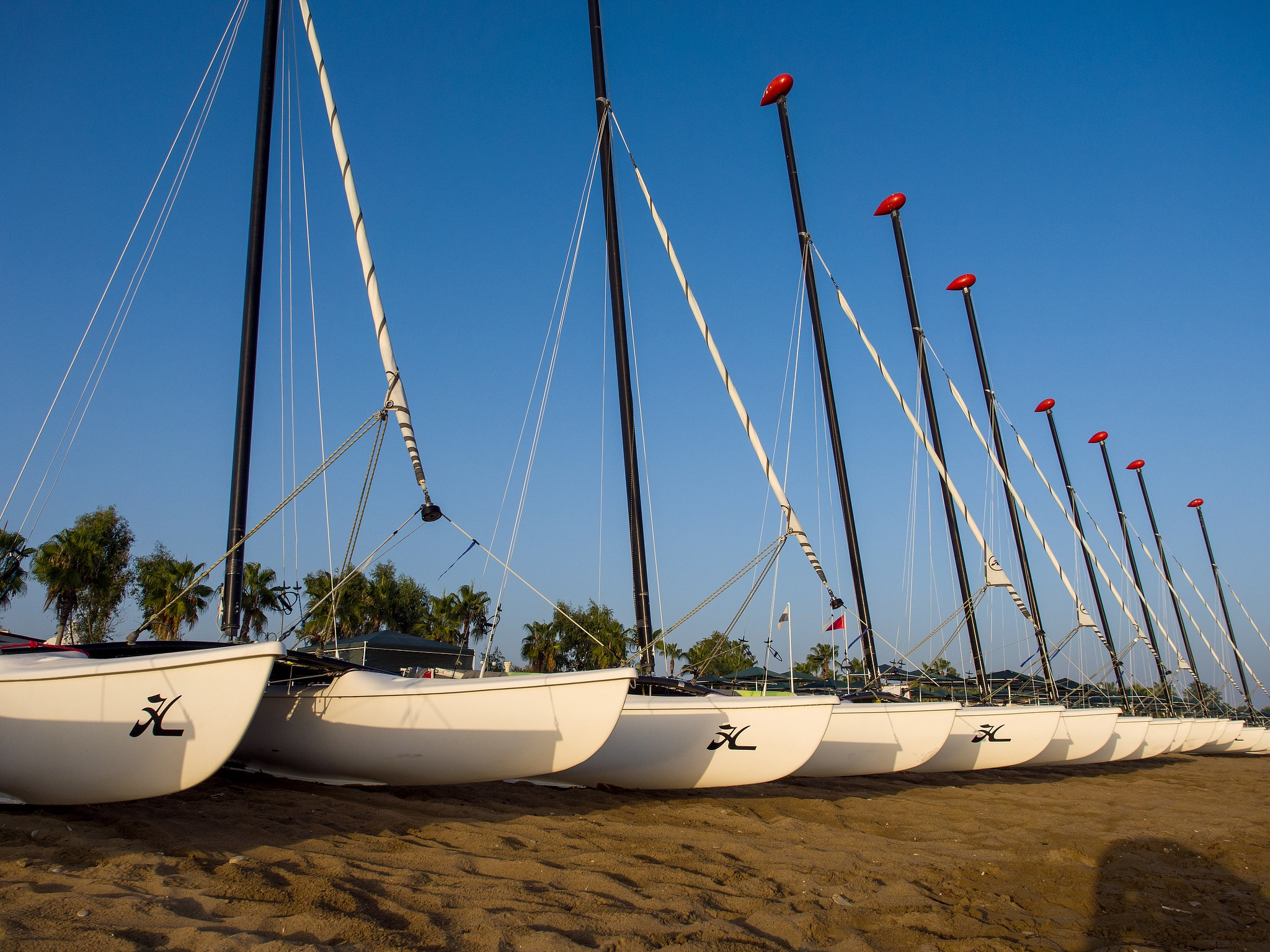 Boats on a beach by DVPavlov