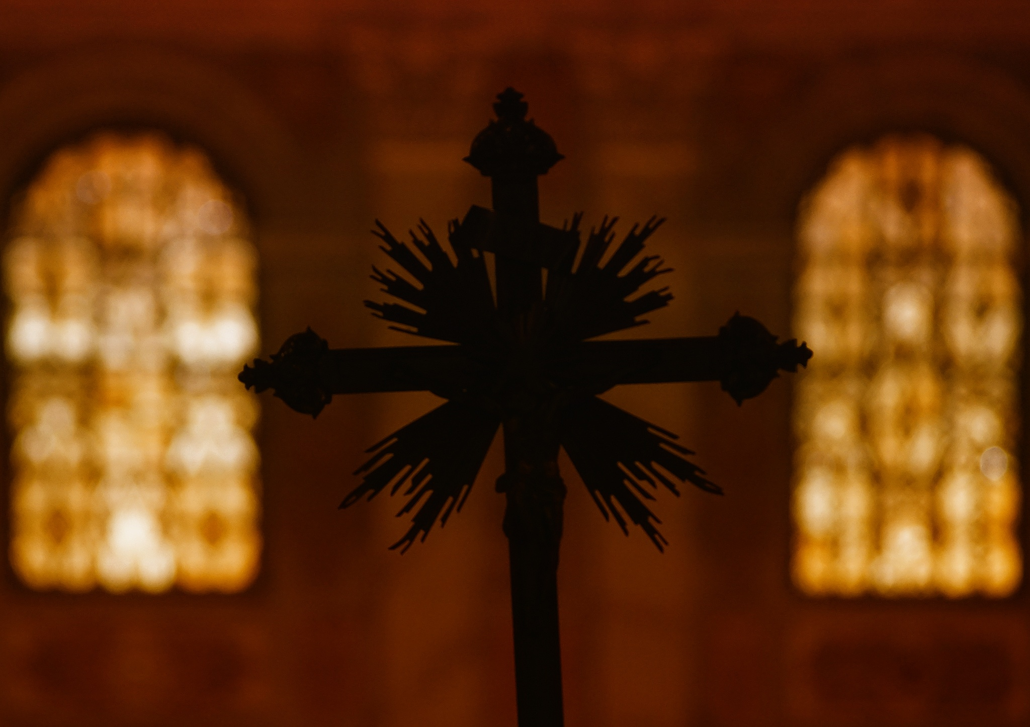 a cross in the church by per f andersen
