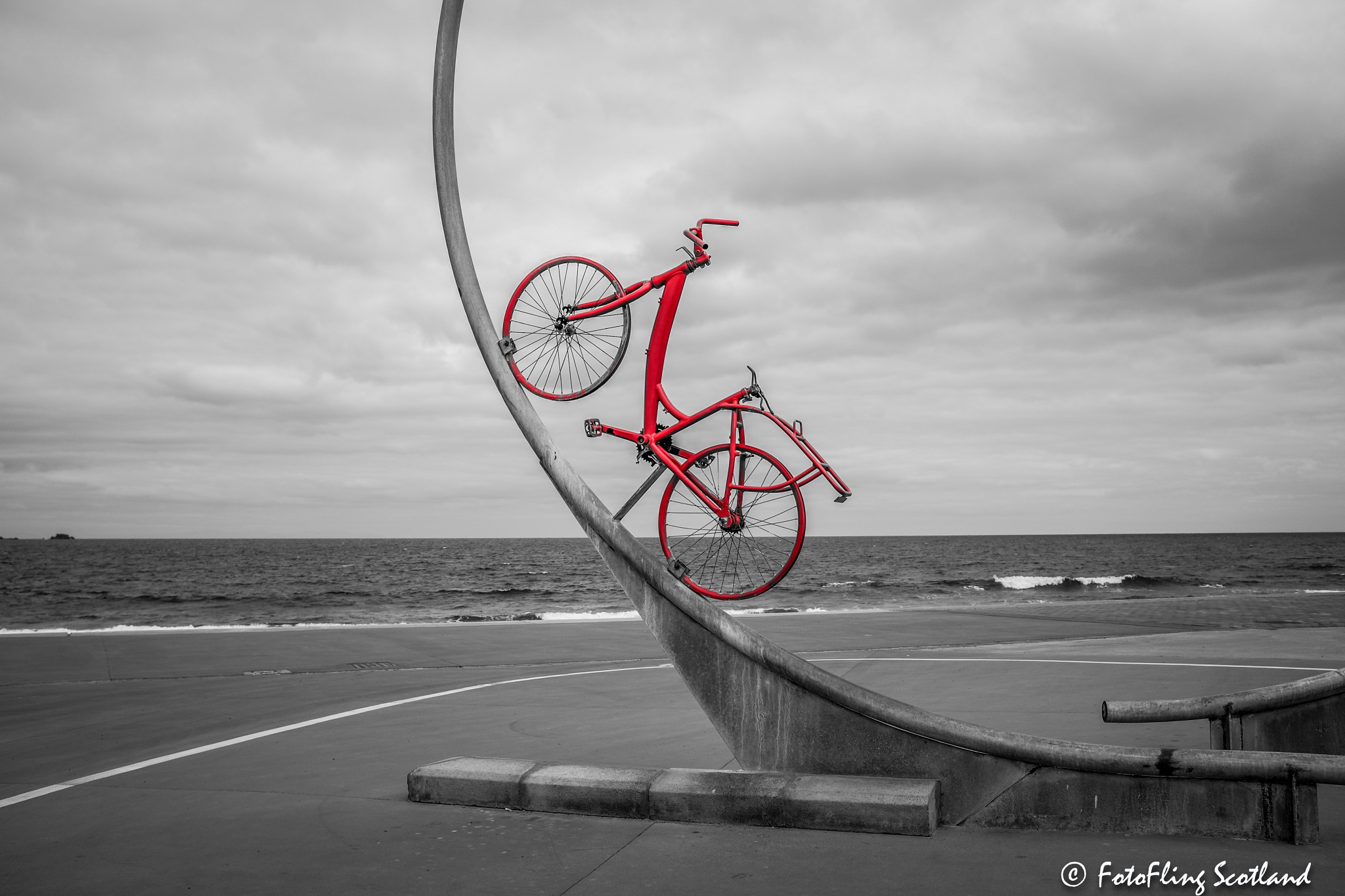 The Red Bicycle by FotoFling Scotland