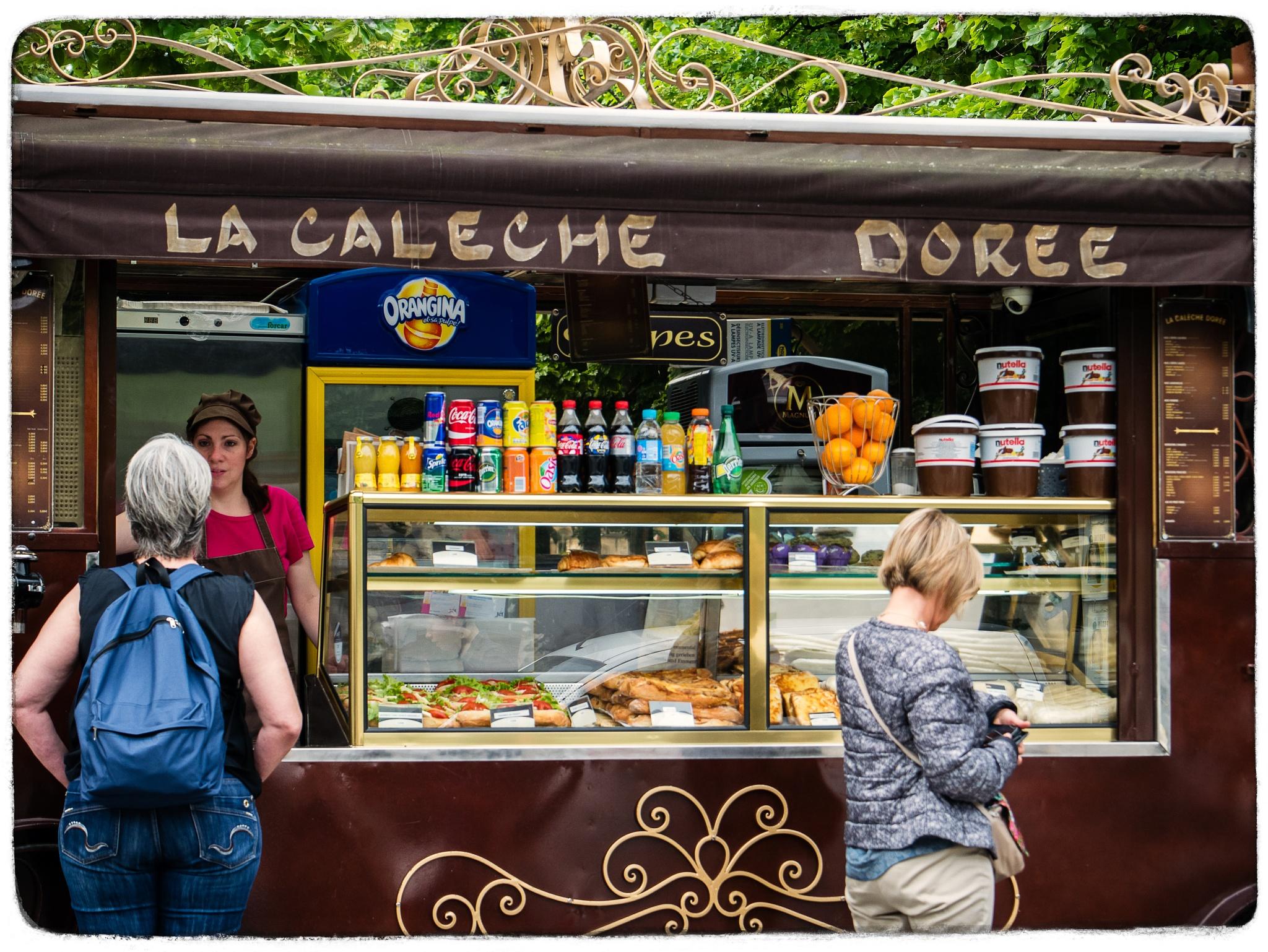 """""""La calèche dorée"""", fast food, Paris by Martine de Lajudie"""