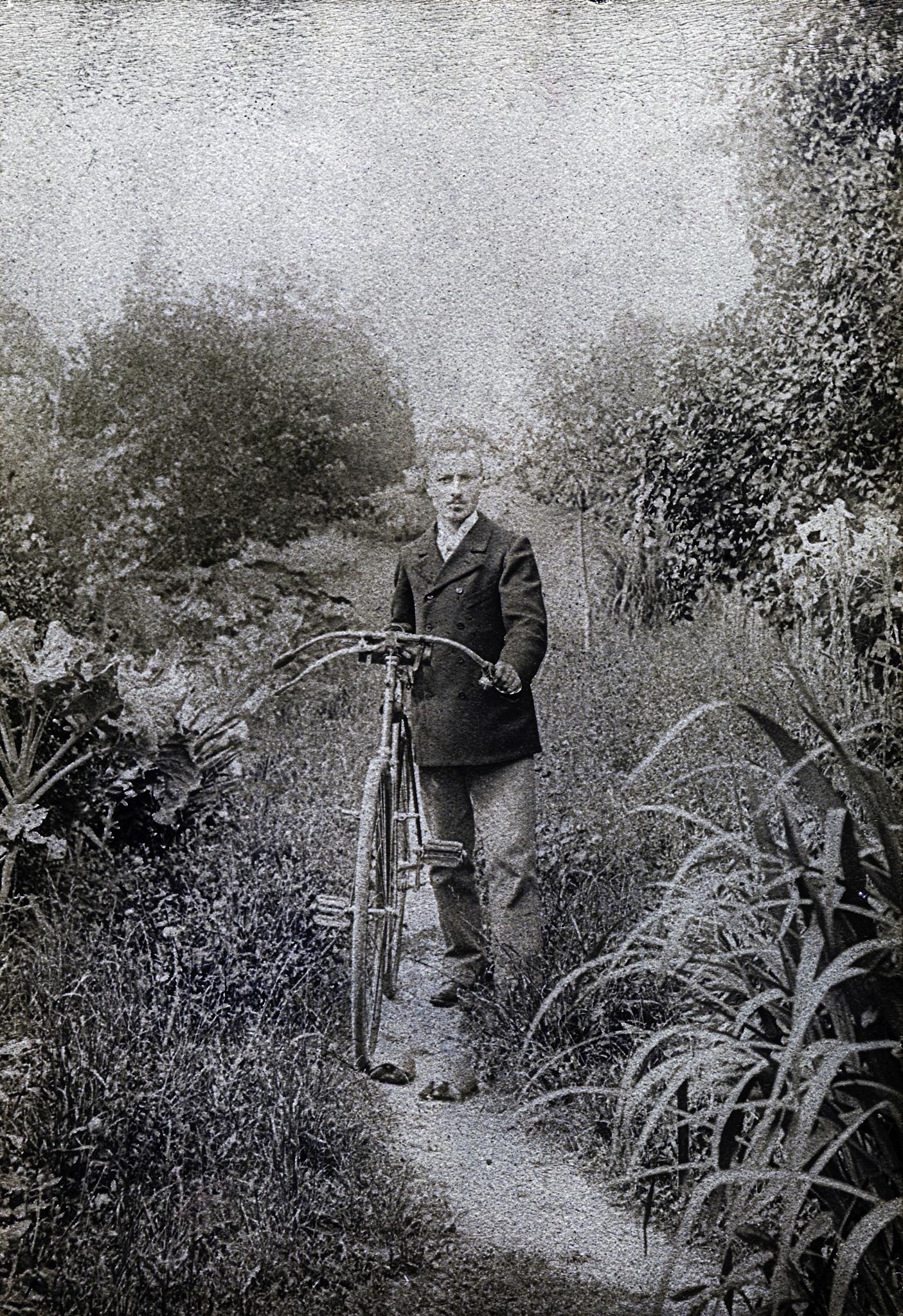 Vintage bicycle, ca 1900 by Martine de Lajudie