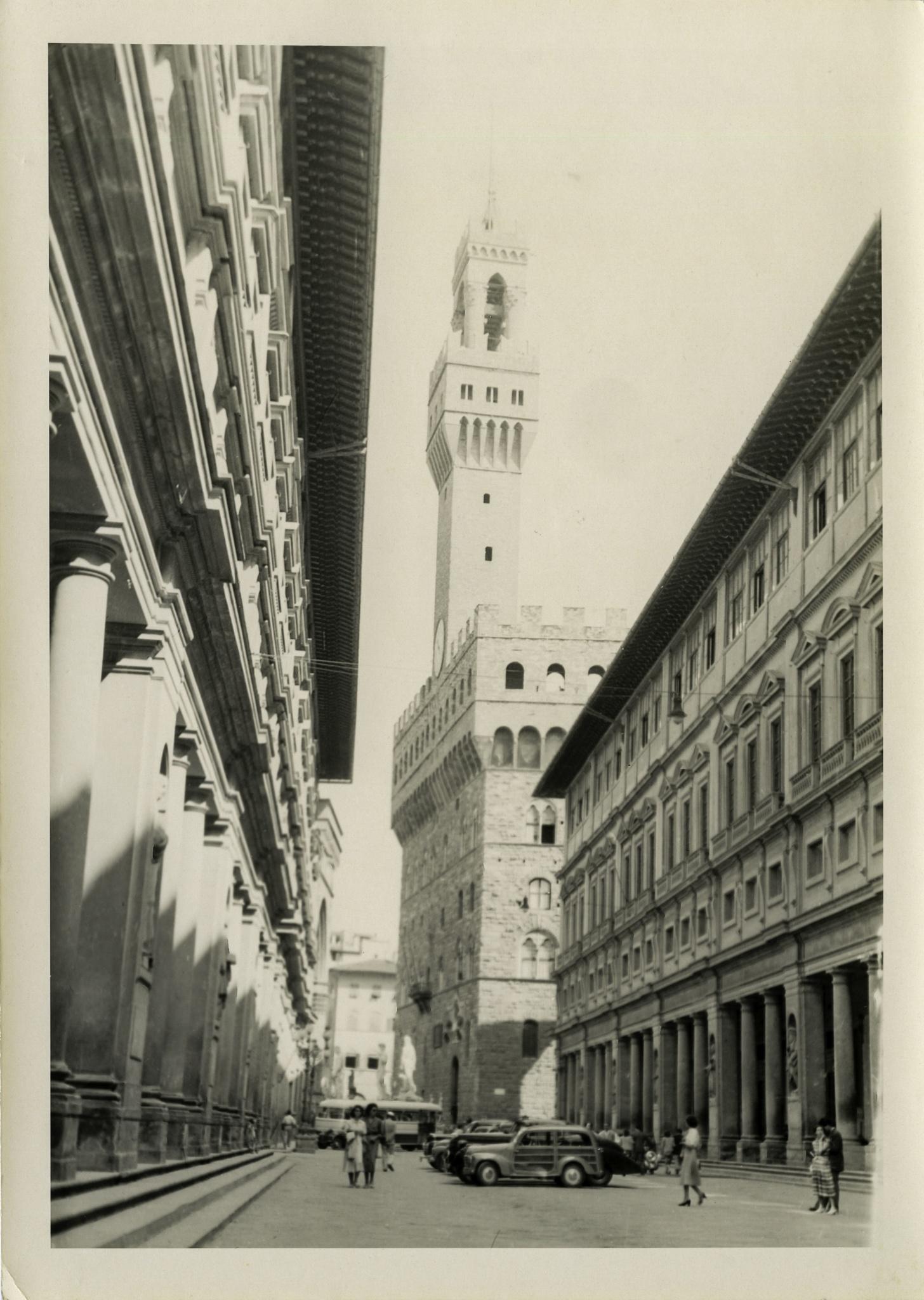 """Palazzo vecchio"" and station wagon, Italy, ca. 1970 by Martine de Lajudie"