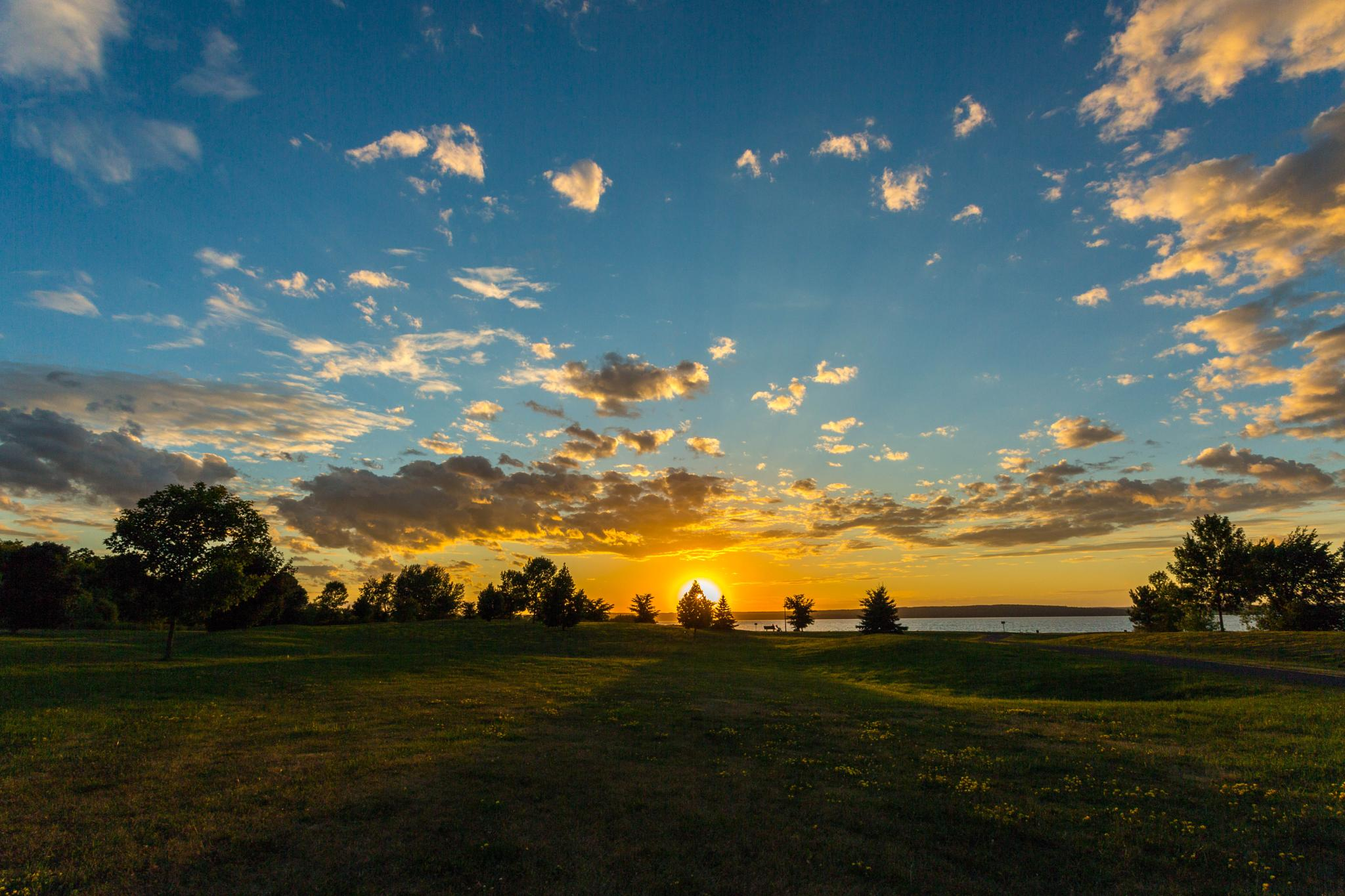 Sunset In Thr Park by Bertheaume