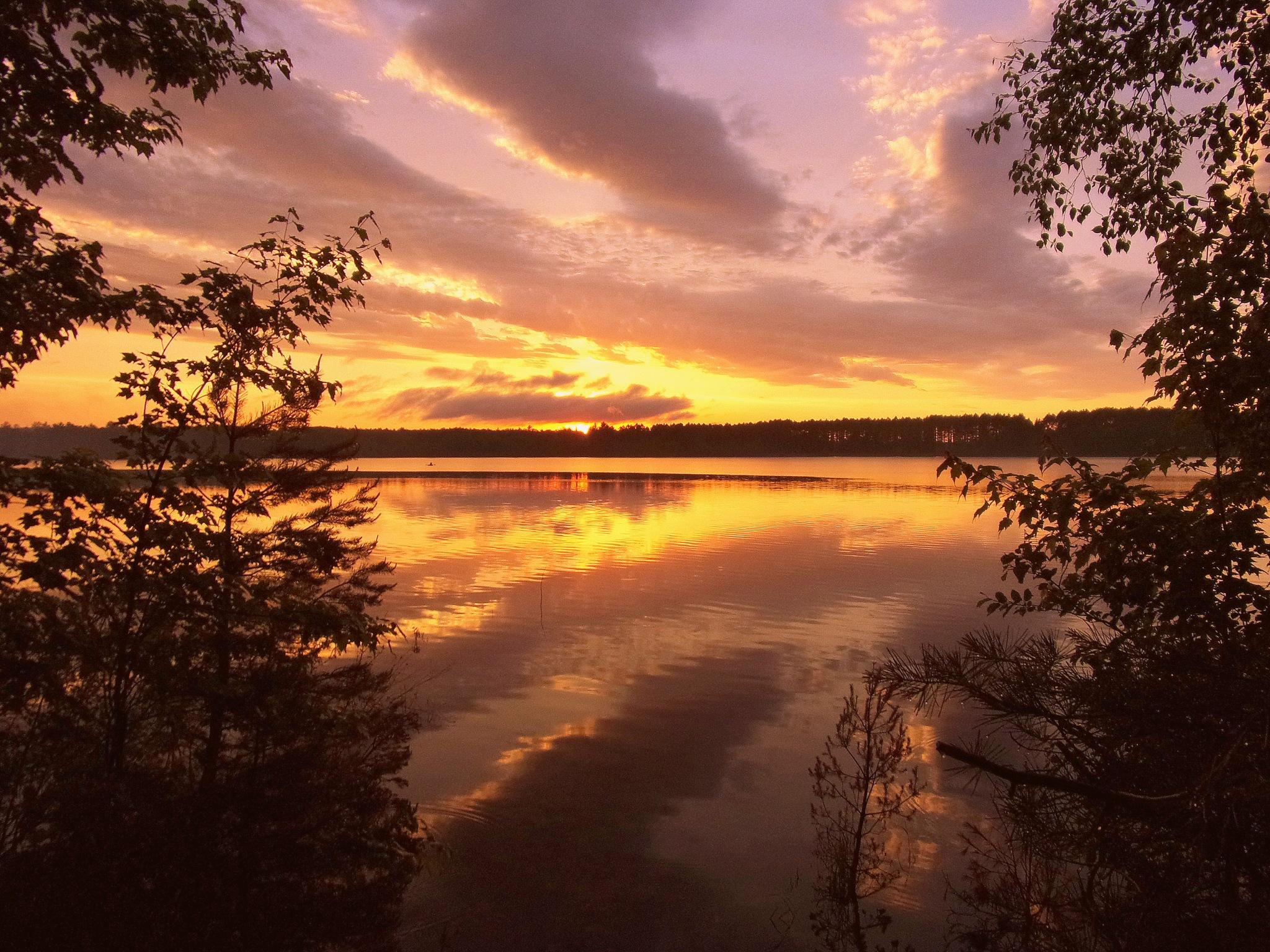 Crystal Lake Sunset by Gregg Michael