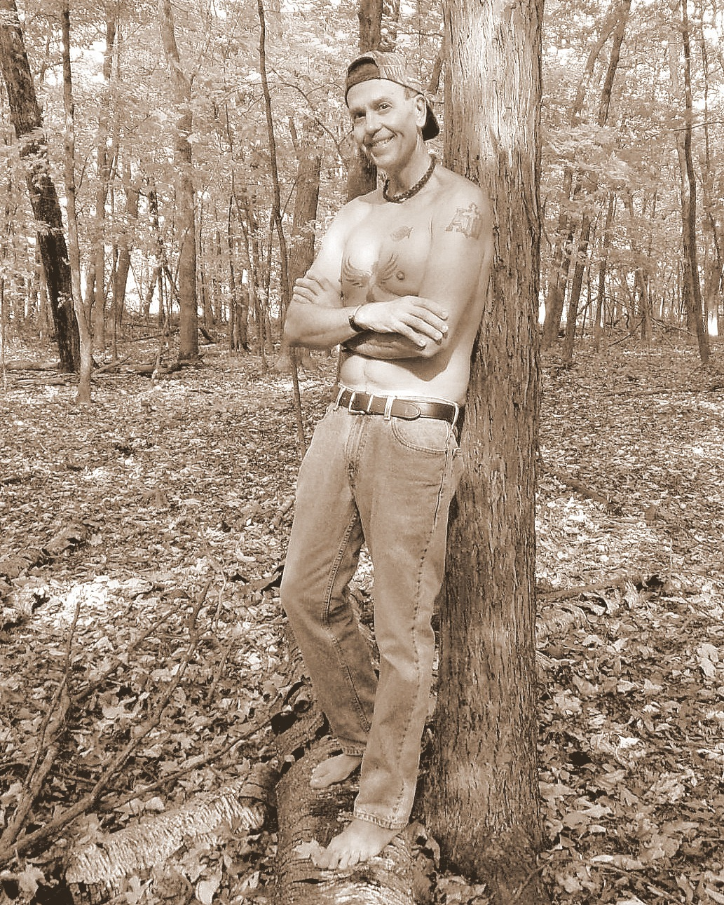Barefoot Dude in the Woods by Gregg Michael