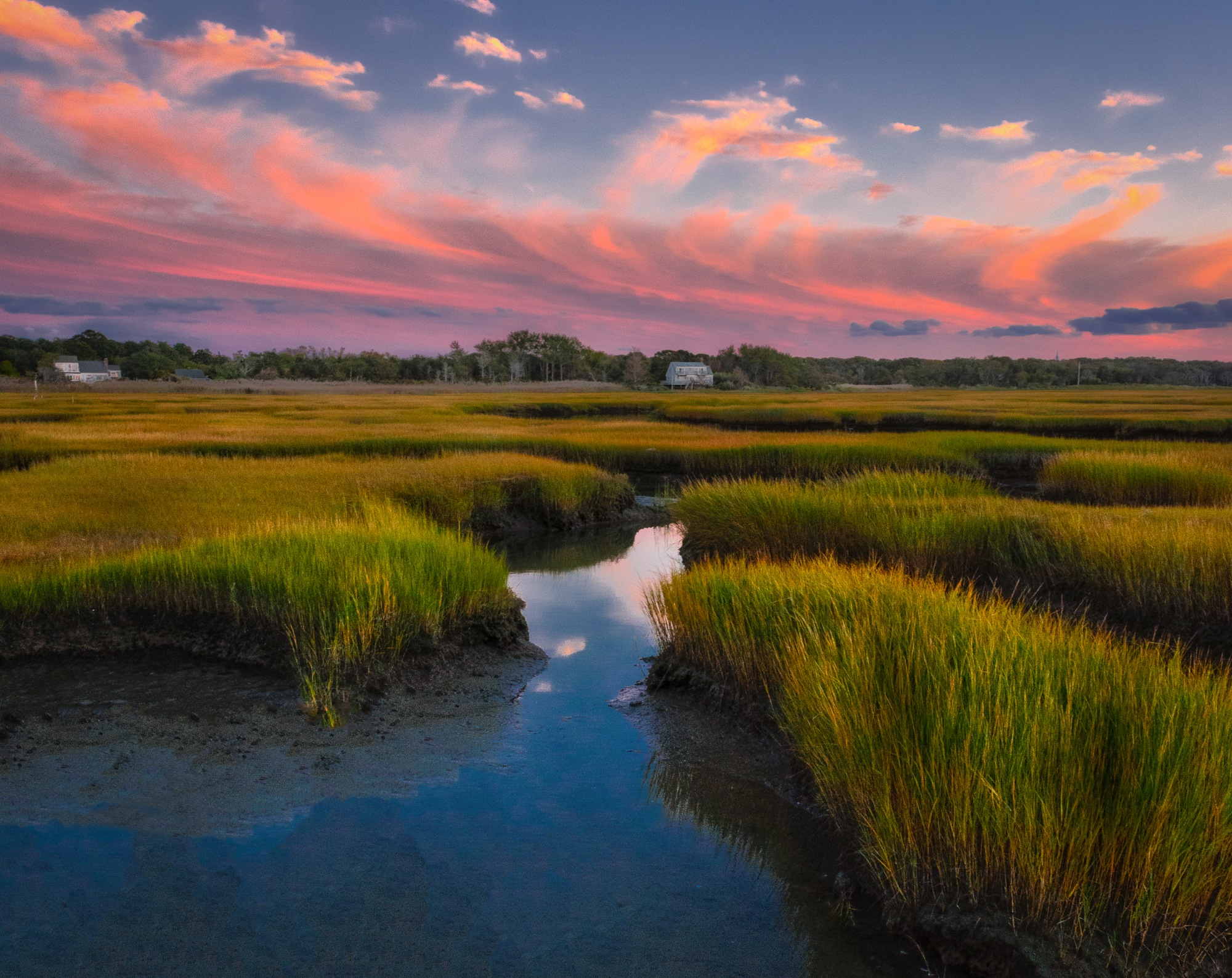 A Fall Sunset on Cape Cod by Steve Director