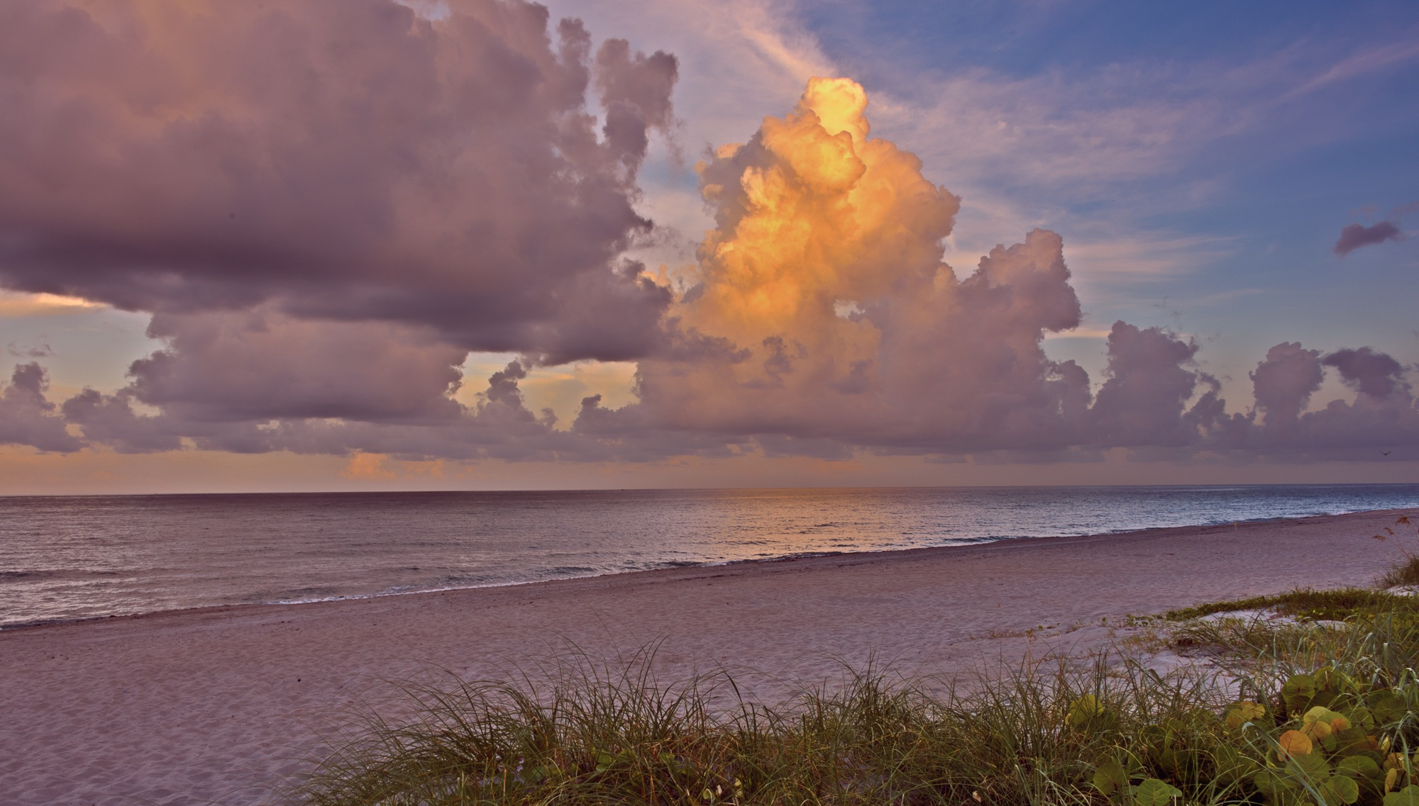 Easterly View of Sunset on Highland Beach by Steve Director