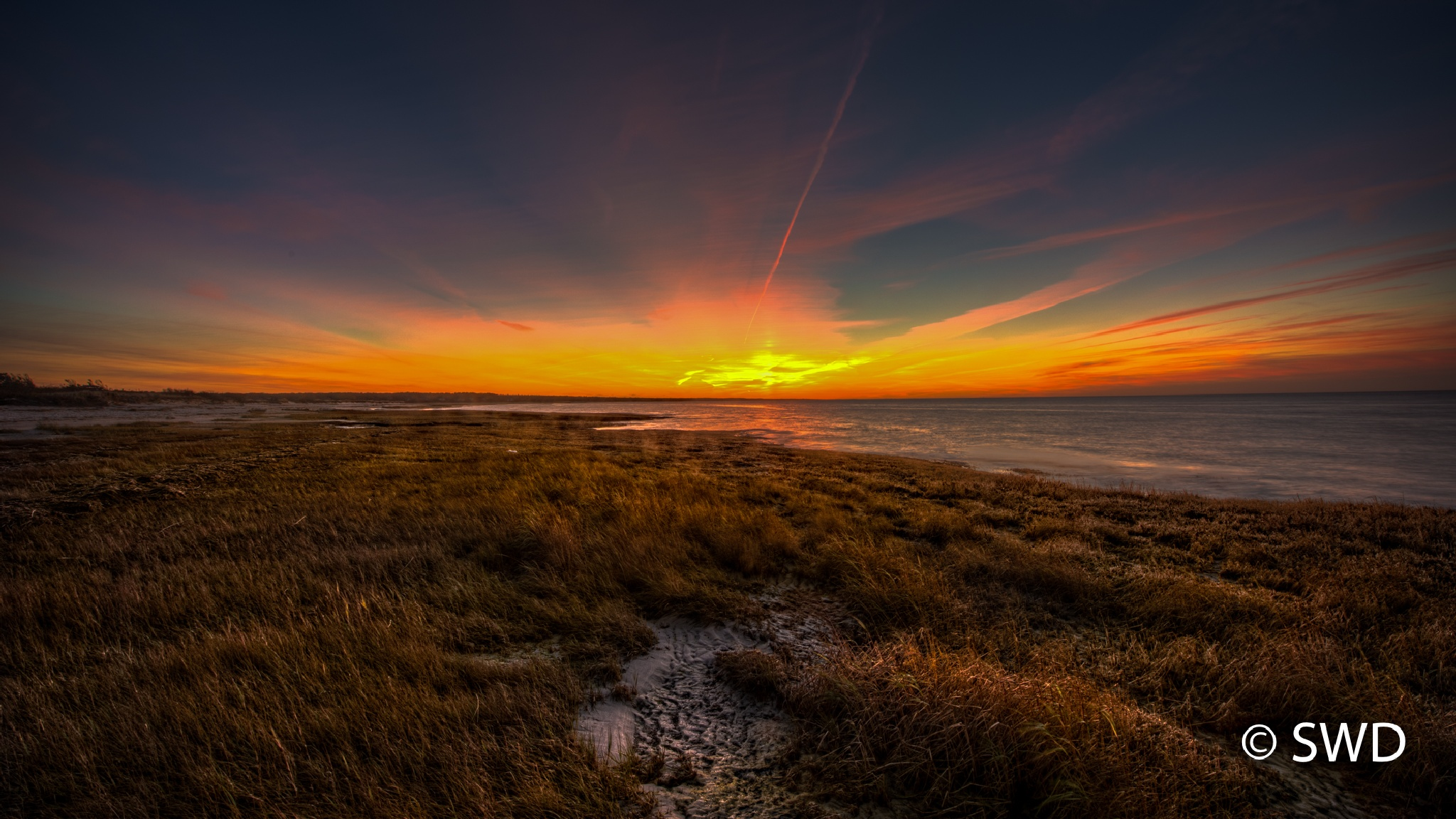 Sunset at Skaket Beach, Cape Cod by Steve Director
