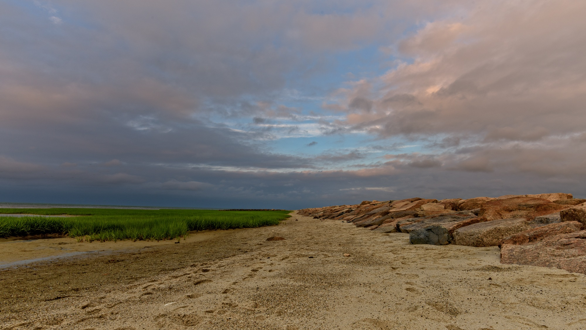 End of a Cloudy Day at Paines Creek Beach  by Steve Director